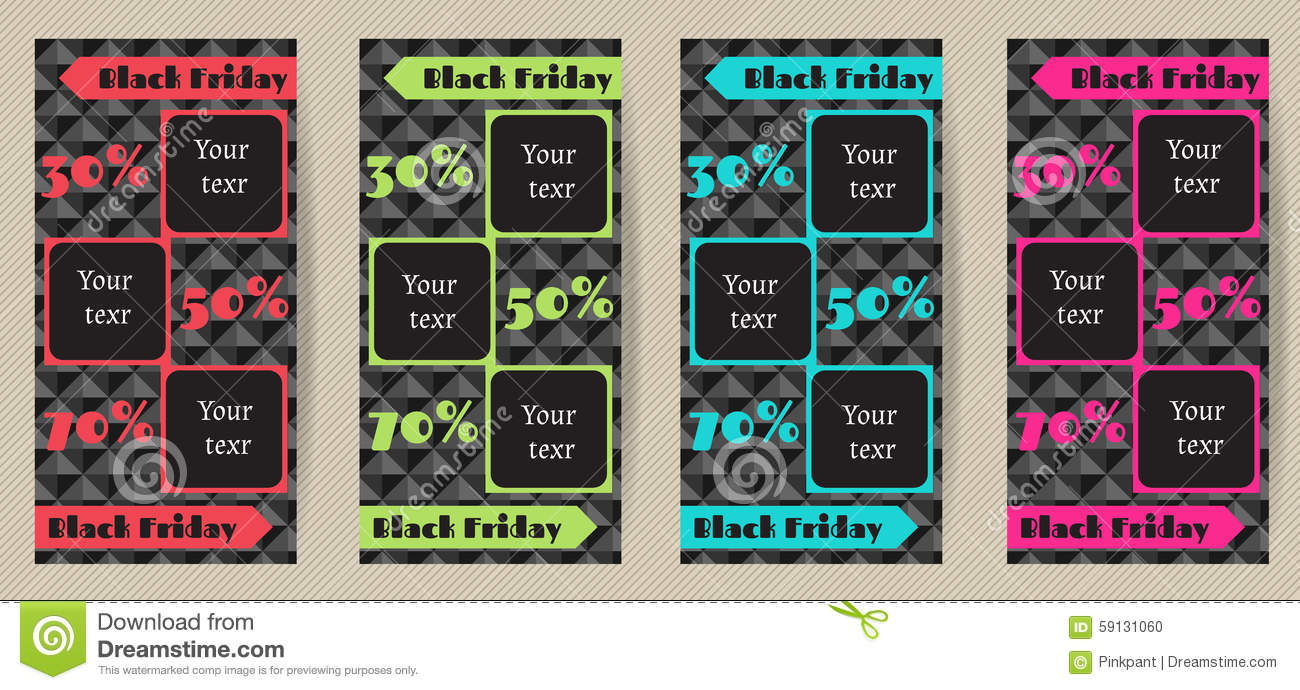 set vertical advertising flyers for black friday sales a set of