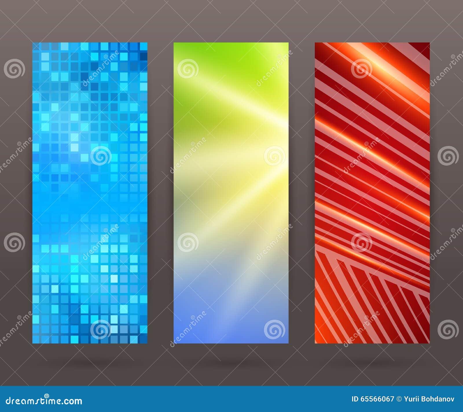 Vertical Design Number Banners Template Stock Illustration - Image ...