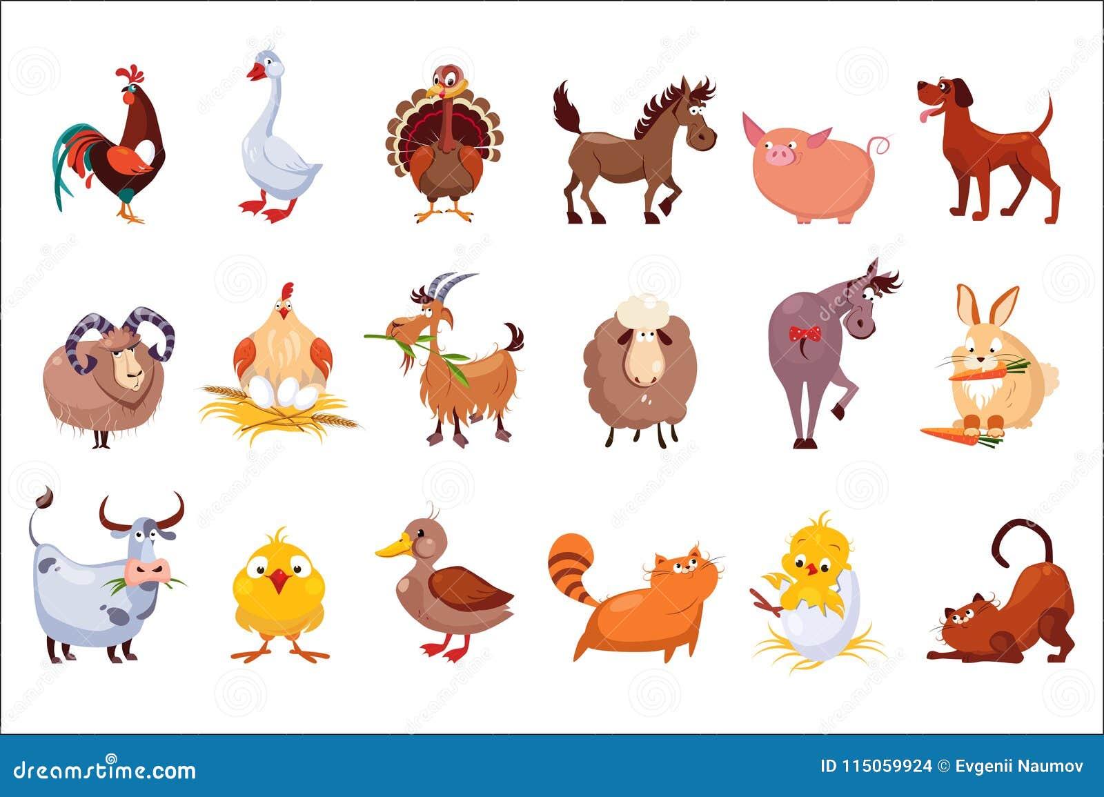 Set Vieh Viehbestand und Geflügel E bunt