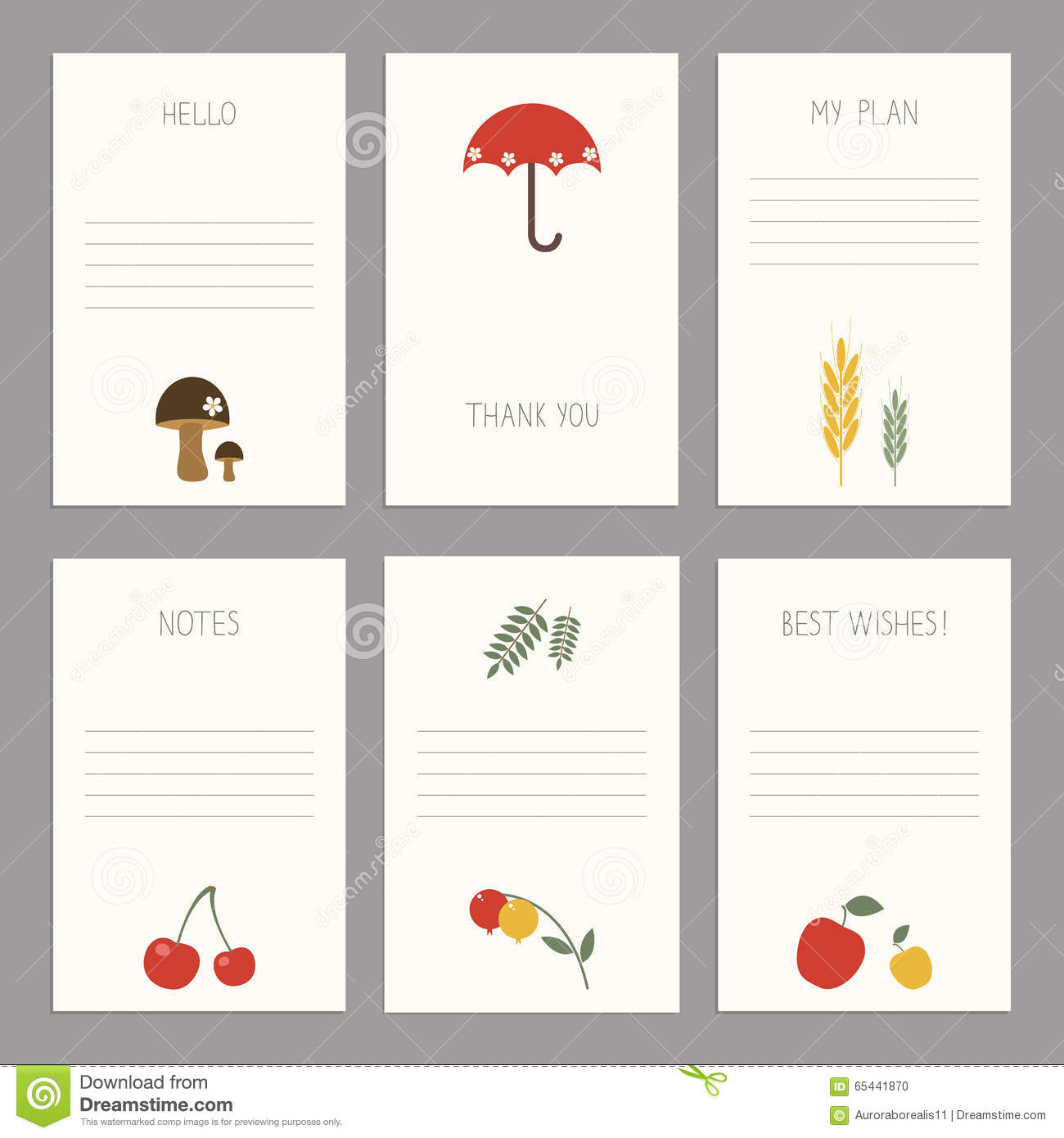 Set Of Vintage Cards Templates Editable Stock Vector