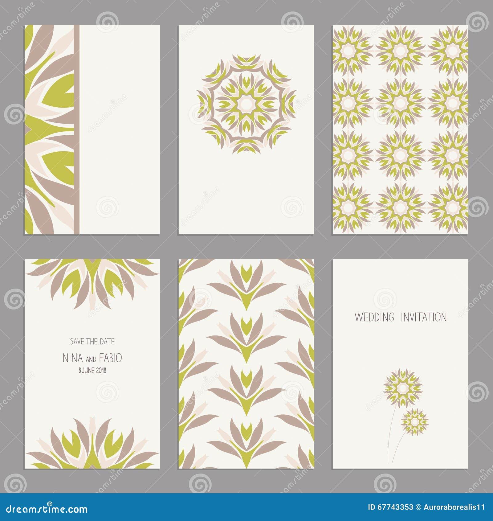 Set Of Vintage Cards Templates Editable: Wedding Card Templates Editable At Websimilar.org