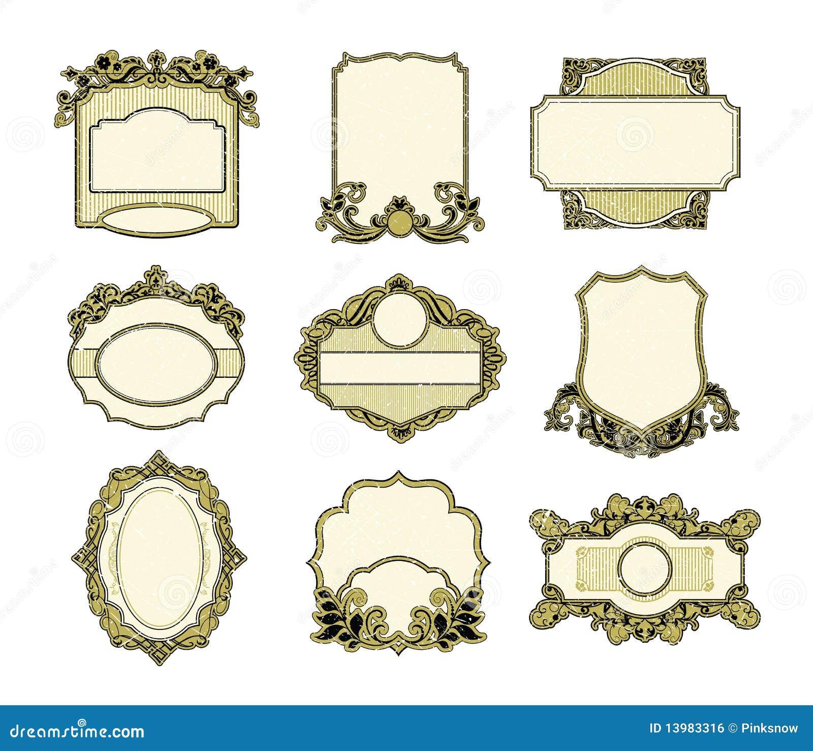 Set Of Vintage Frames Design Royalty Free Stock Image ...