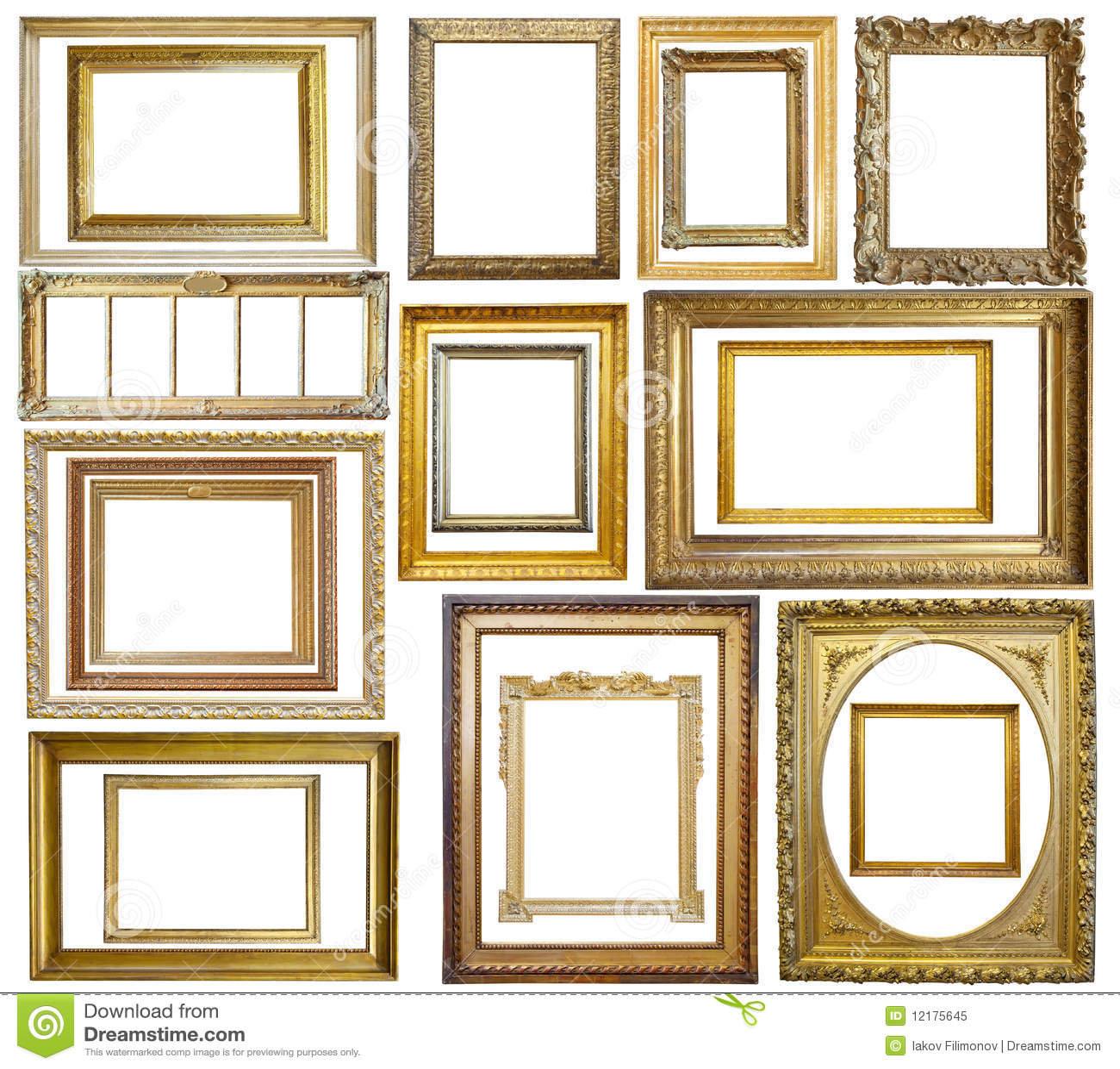 Set of Vintage gold picture frame