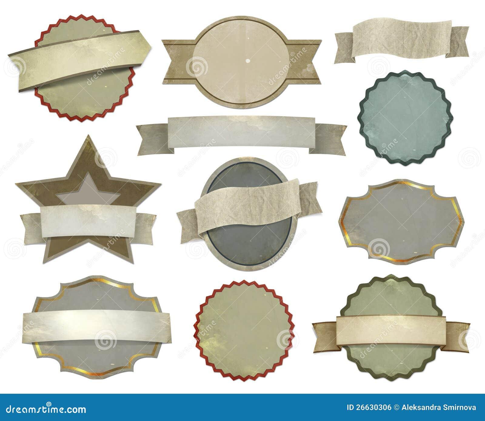 Set of vintage labels stock illustration. Image of ...