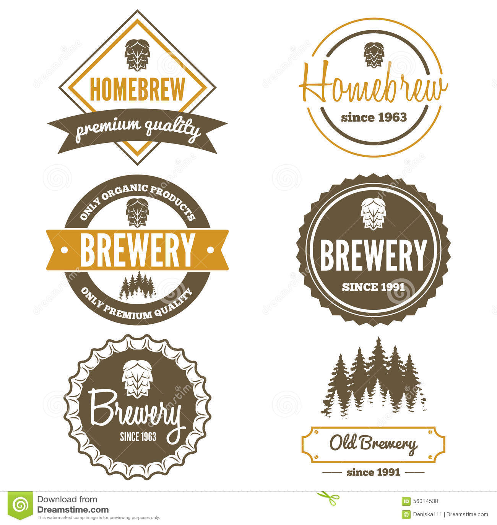 Set of vintage logo badge emblem or logotype stock for Beer logo creator