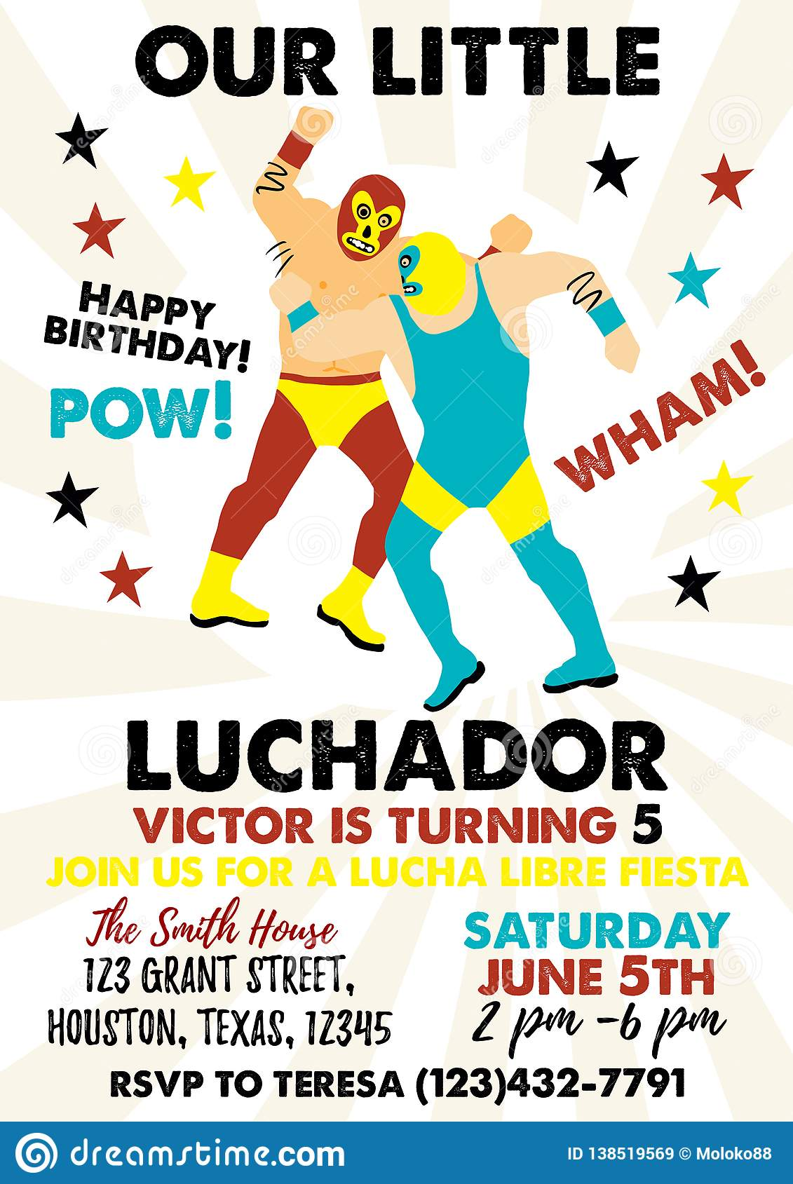 Set Of Vintage Lucha Libre Tickets Birthday Party