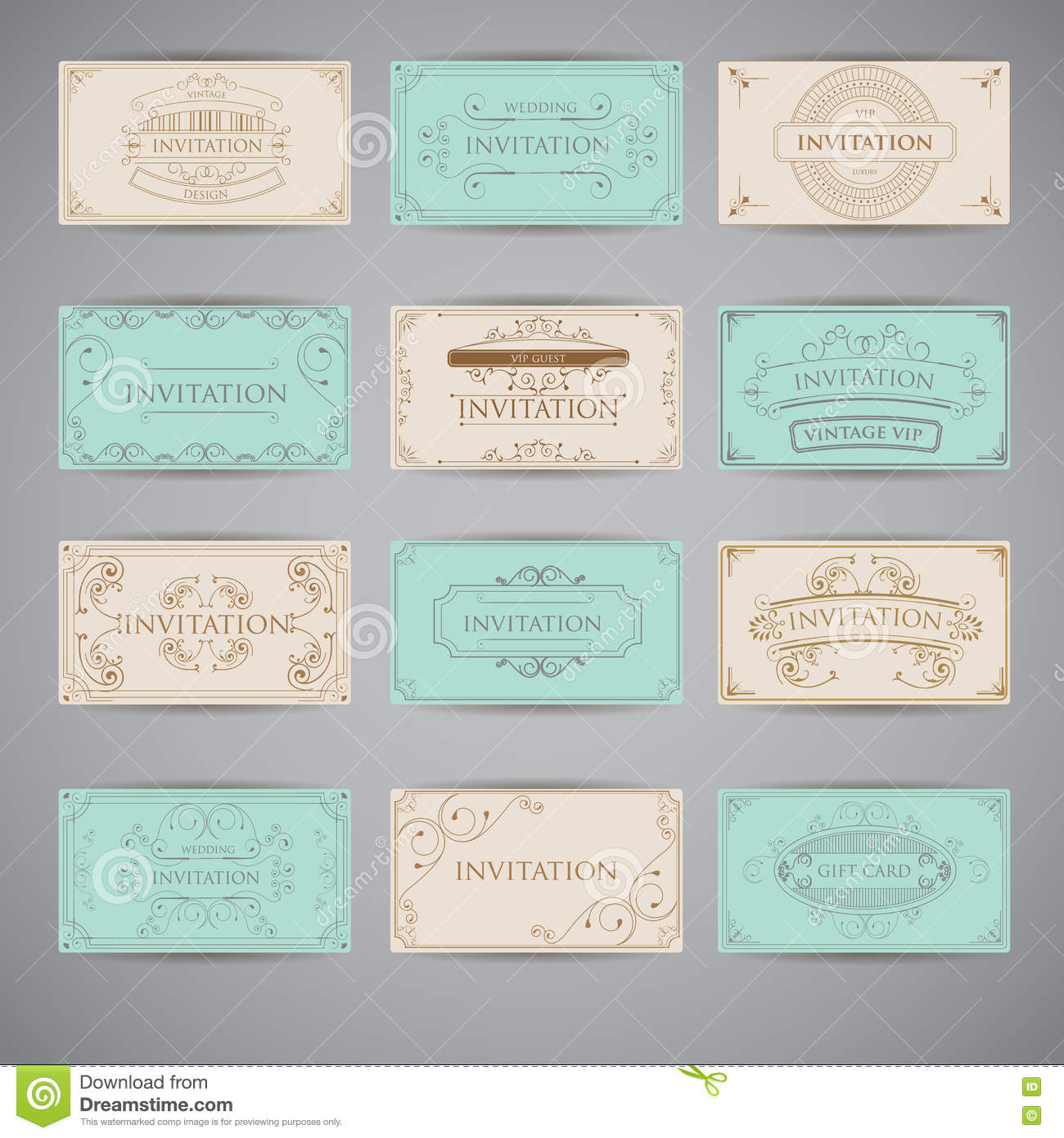 set of vintage luxury greeting restaurant menu design template stock