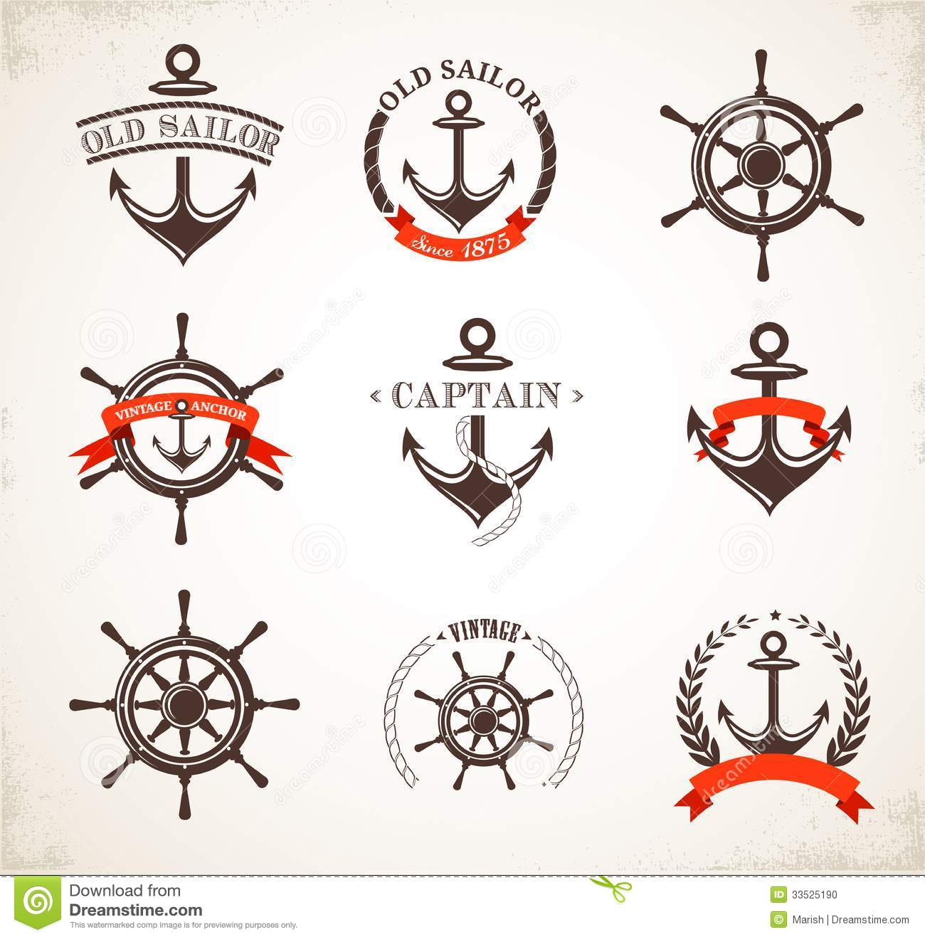 Nautical Symbols And Meanings Set Of Vintage Nautica...