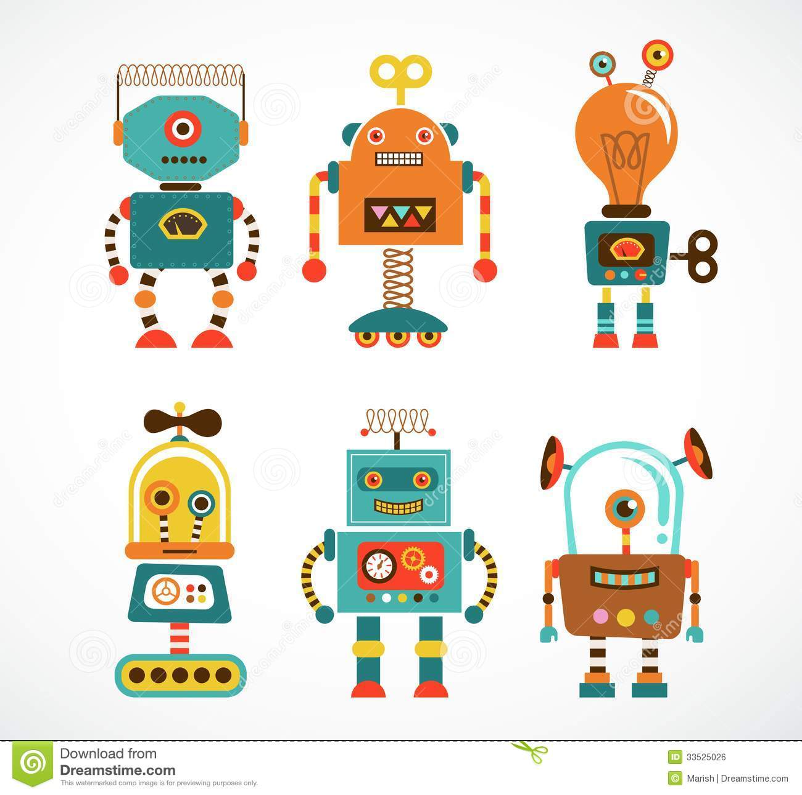 Set Of Vintage Robot I...