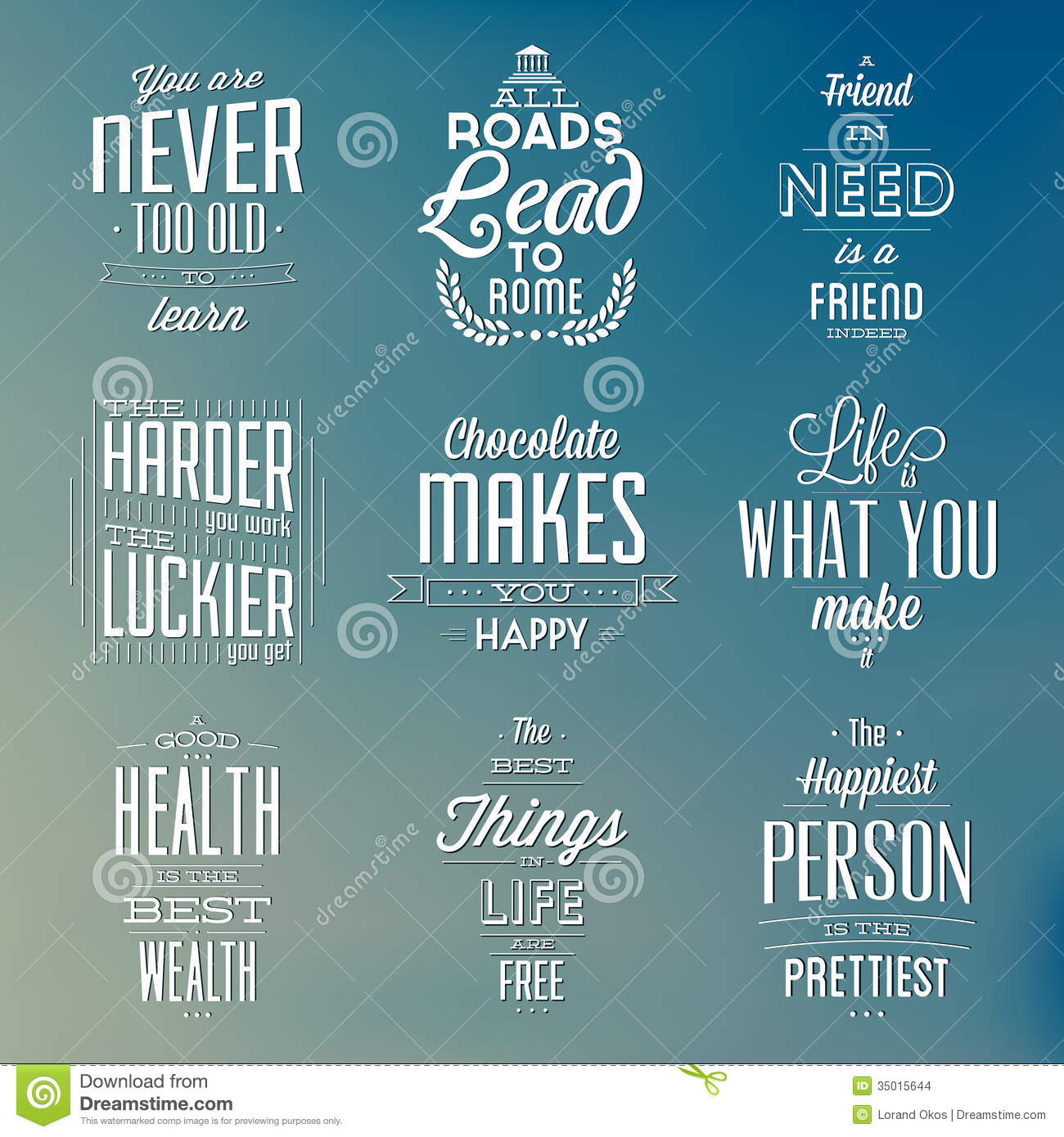 set of vintage typographic backgrounds   motivational peace sign victory peace sign victory
