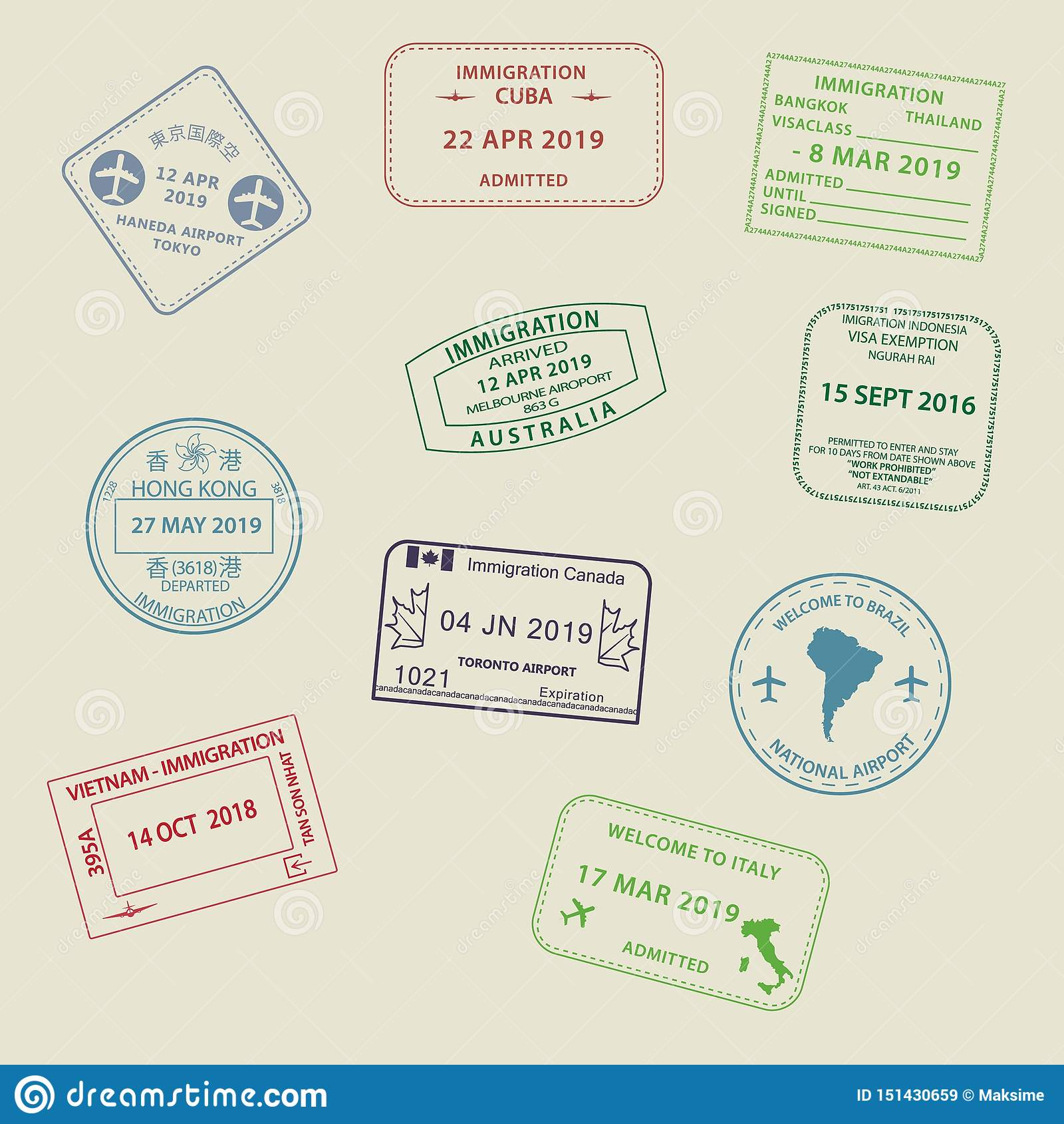 set-visa-passport-stamps-to-different-countries-international-travel-visas-stamp-icons-entering-australia-thailand-brazil-151430659 Australia Travel Visa Now 2020 @capturingmomentsphotography.net
