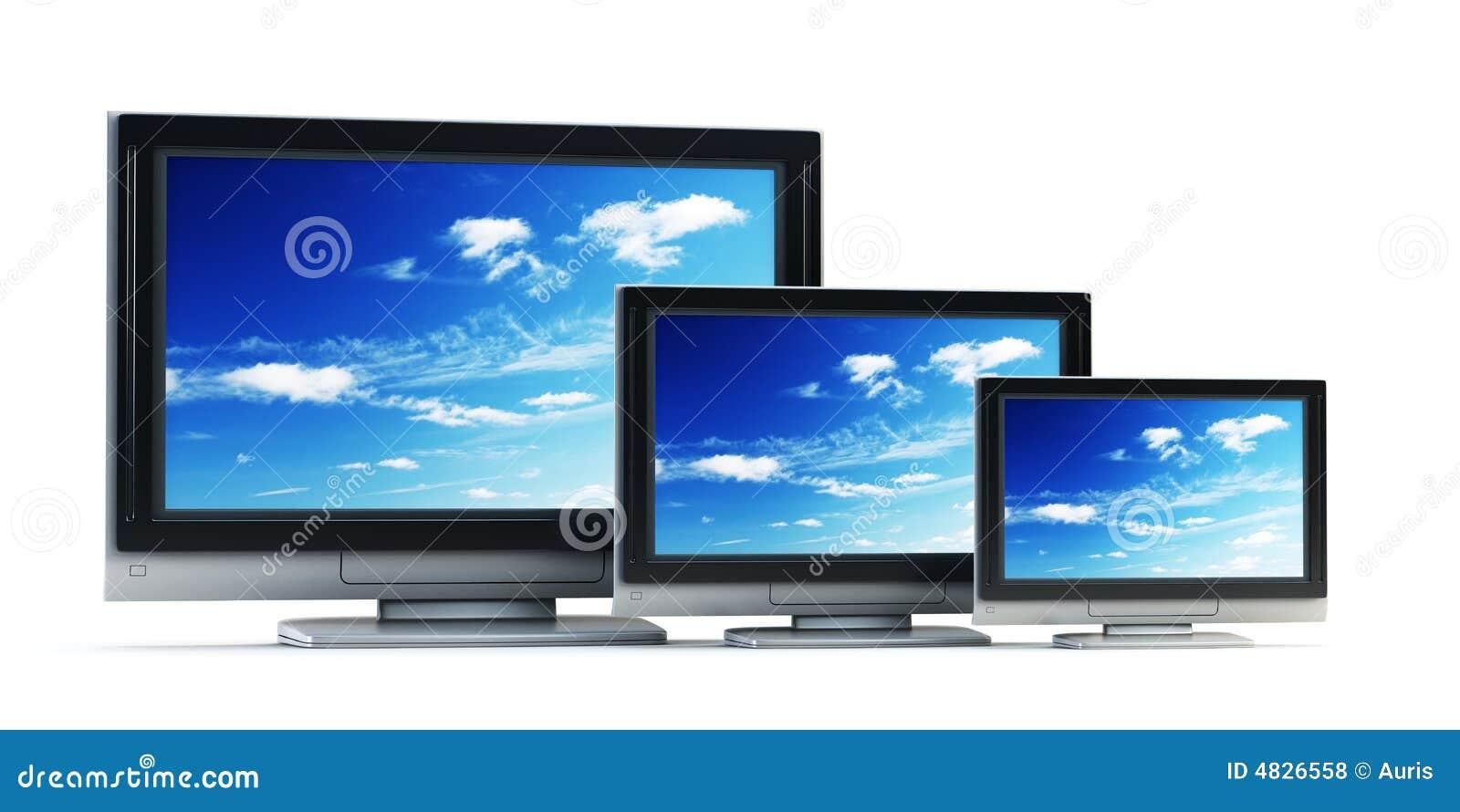 Set von Plasma Fernsehapparat