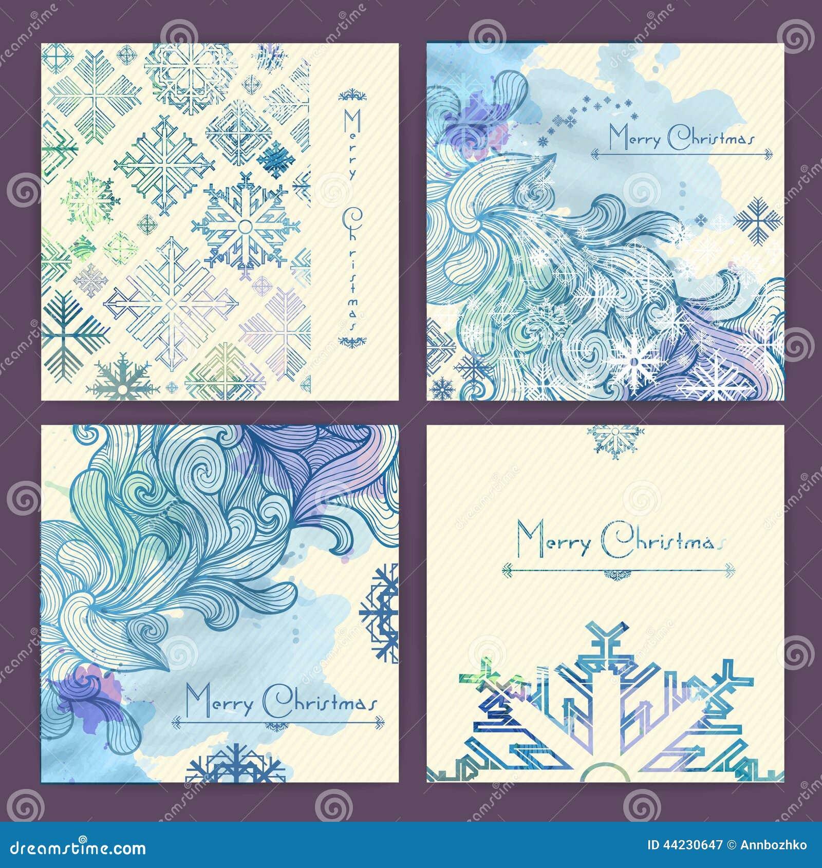 Set wakacyjne kartki bożonarodzeniowa