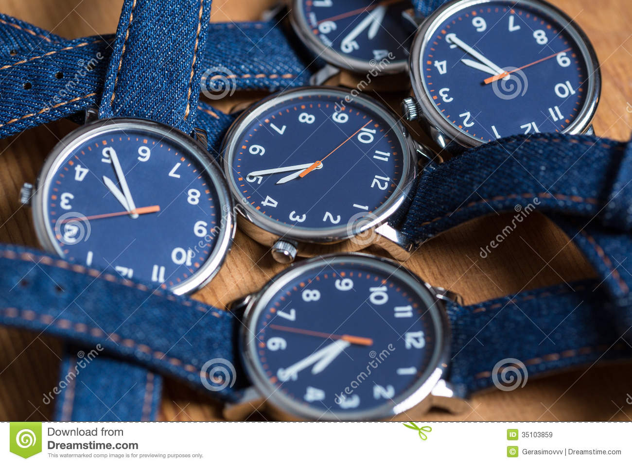 Set of watches stock image. Image of design, concept ...
