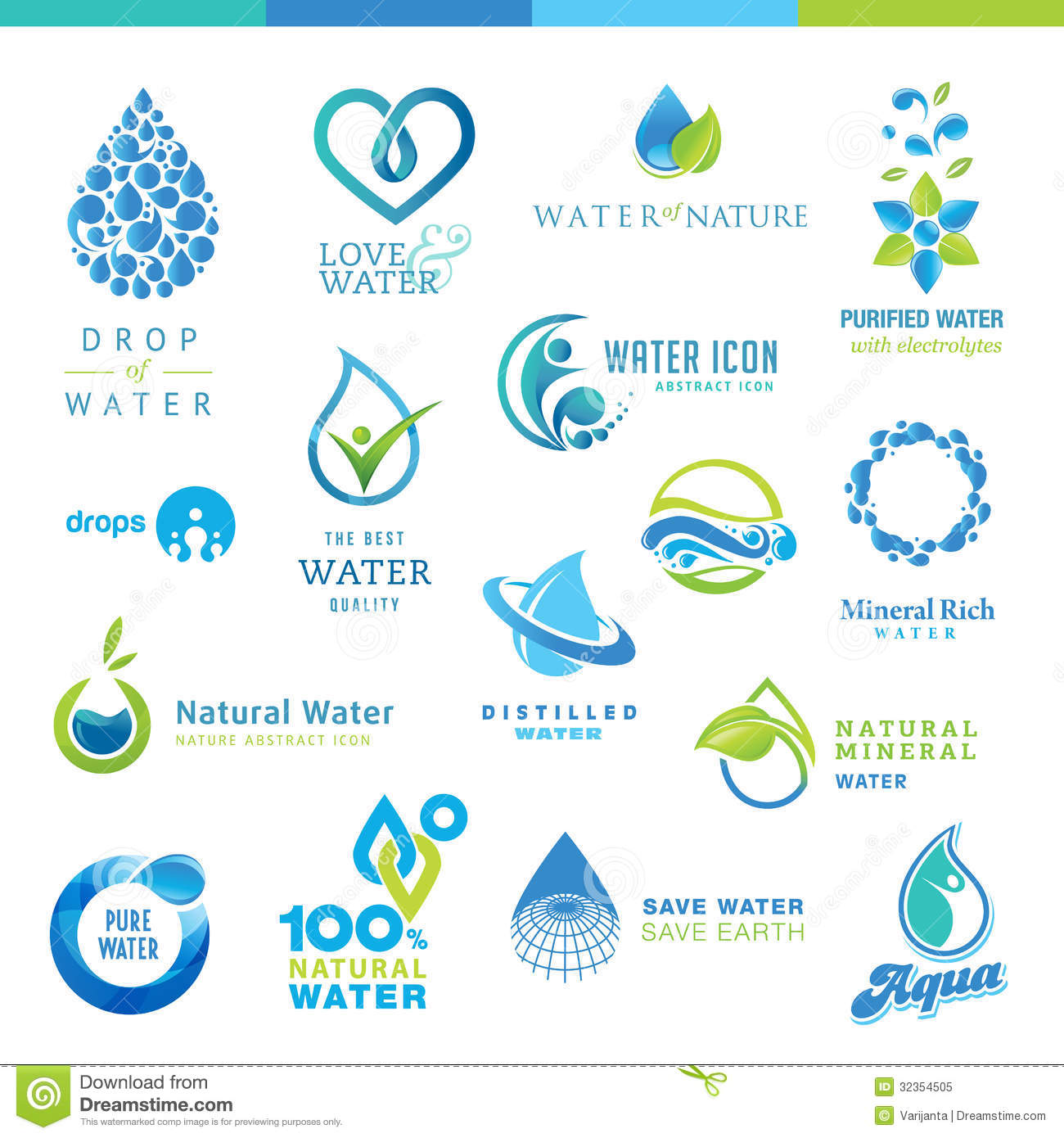 Set of water icons