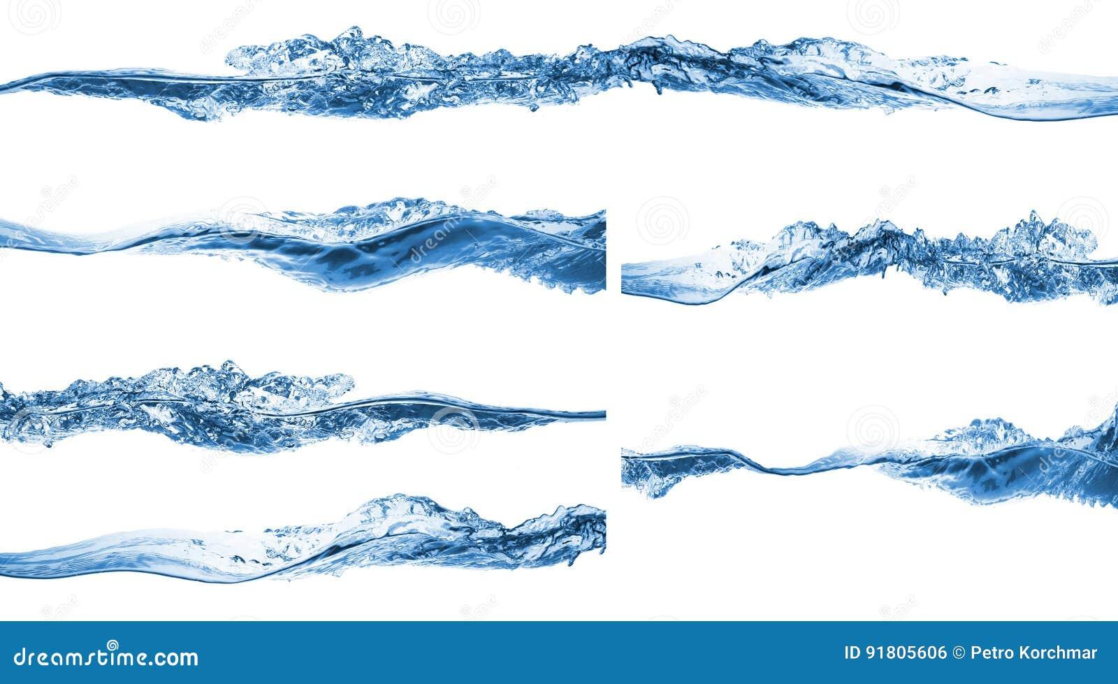 Set of water splashing