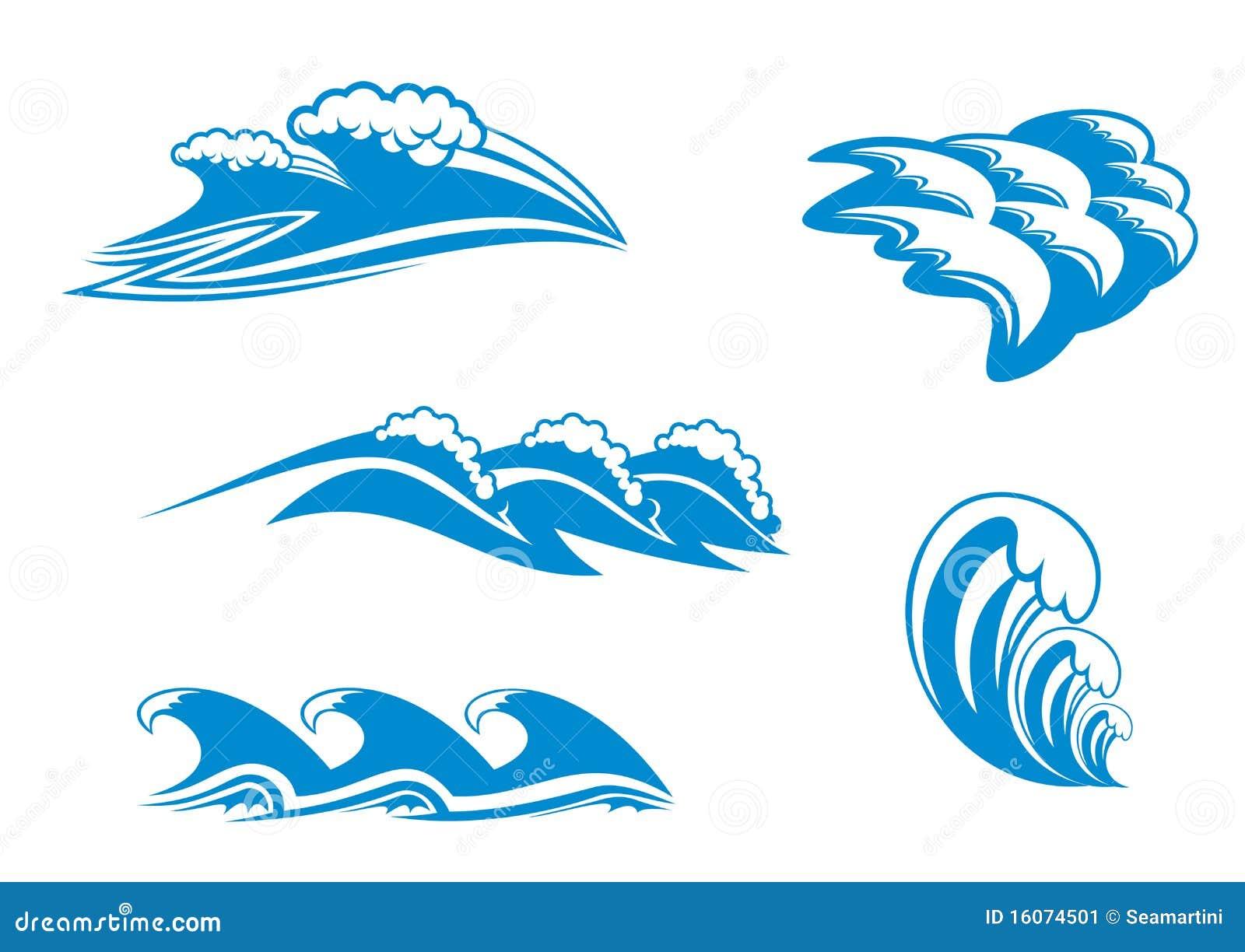 Set Of Wave Symbols Stock Image Image 16074501