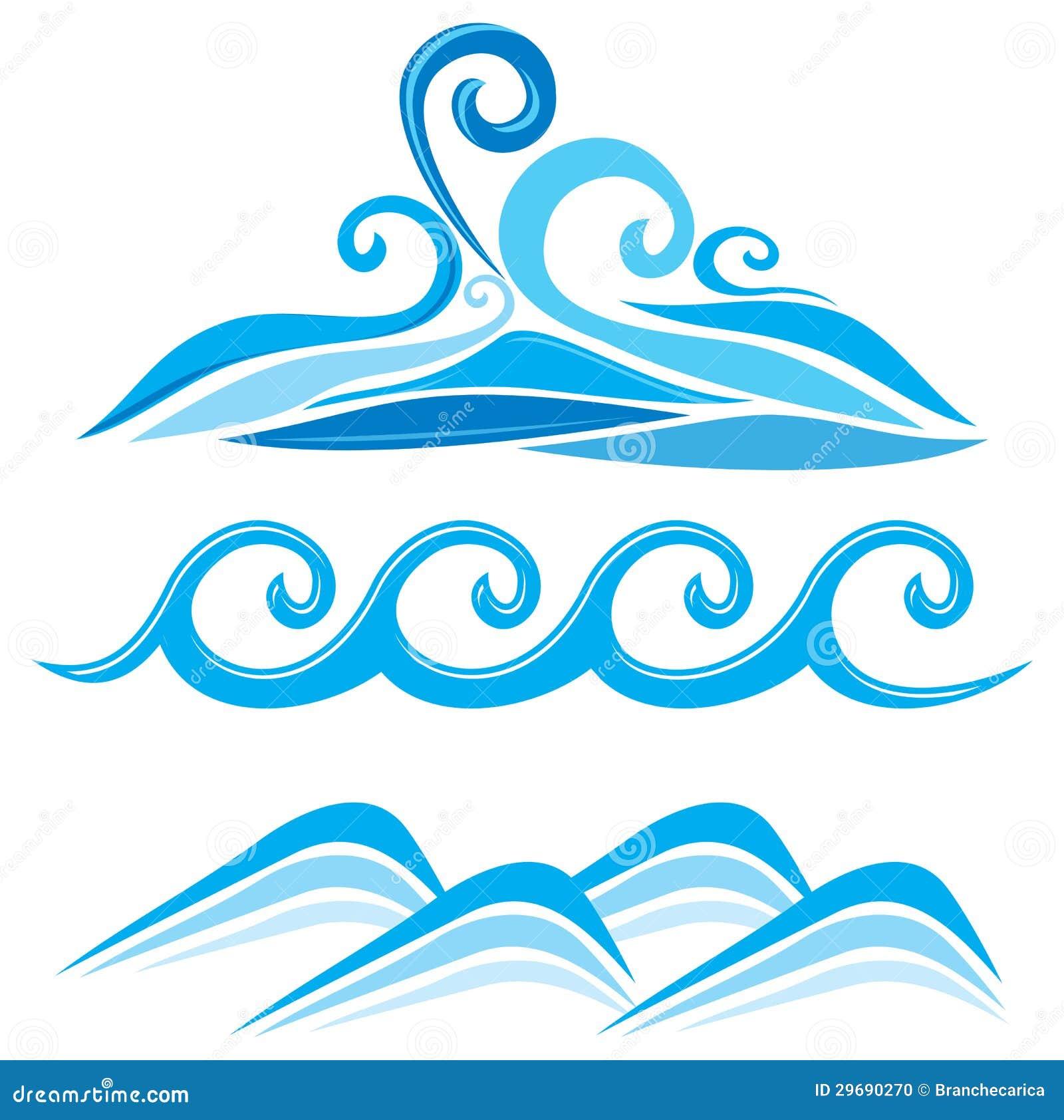 Set Of Wave Symbols Stock Photo Image 29690270