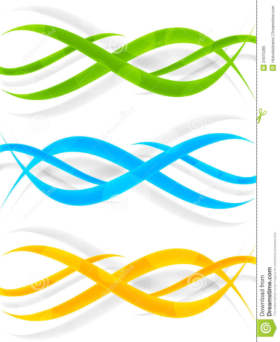Set of wavy banners stock vector. Illustration of ...