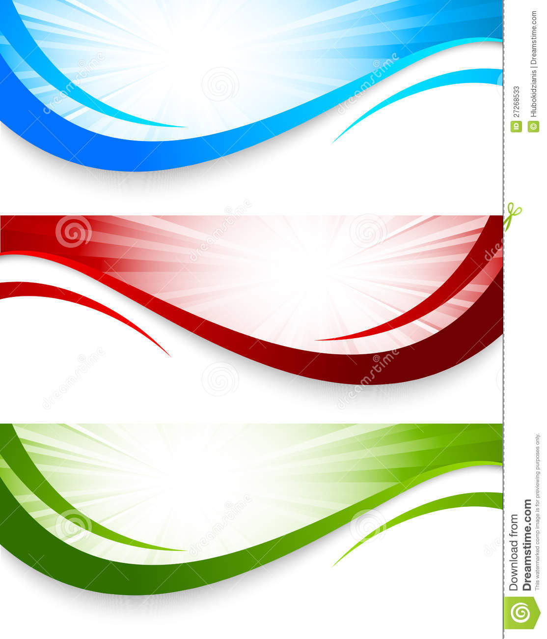 Set of wavy banners stock vector. Illustration of line ...