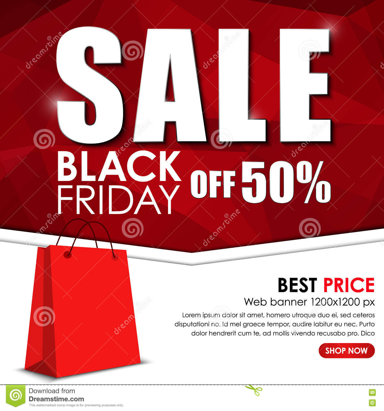 set of web banner for sales on black friday vector illustration 79962994. Black Bedroom Furniture Sets. Home Design Ideas