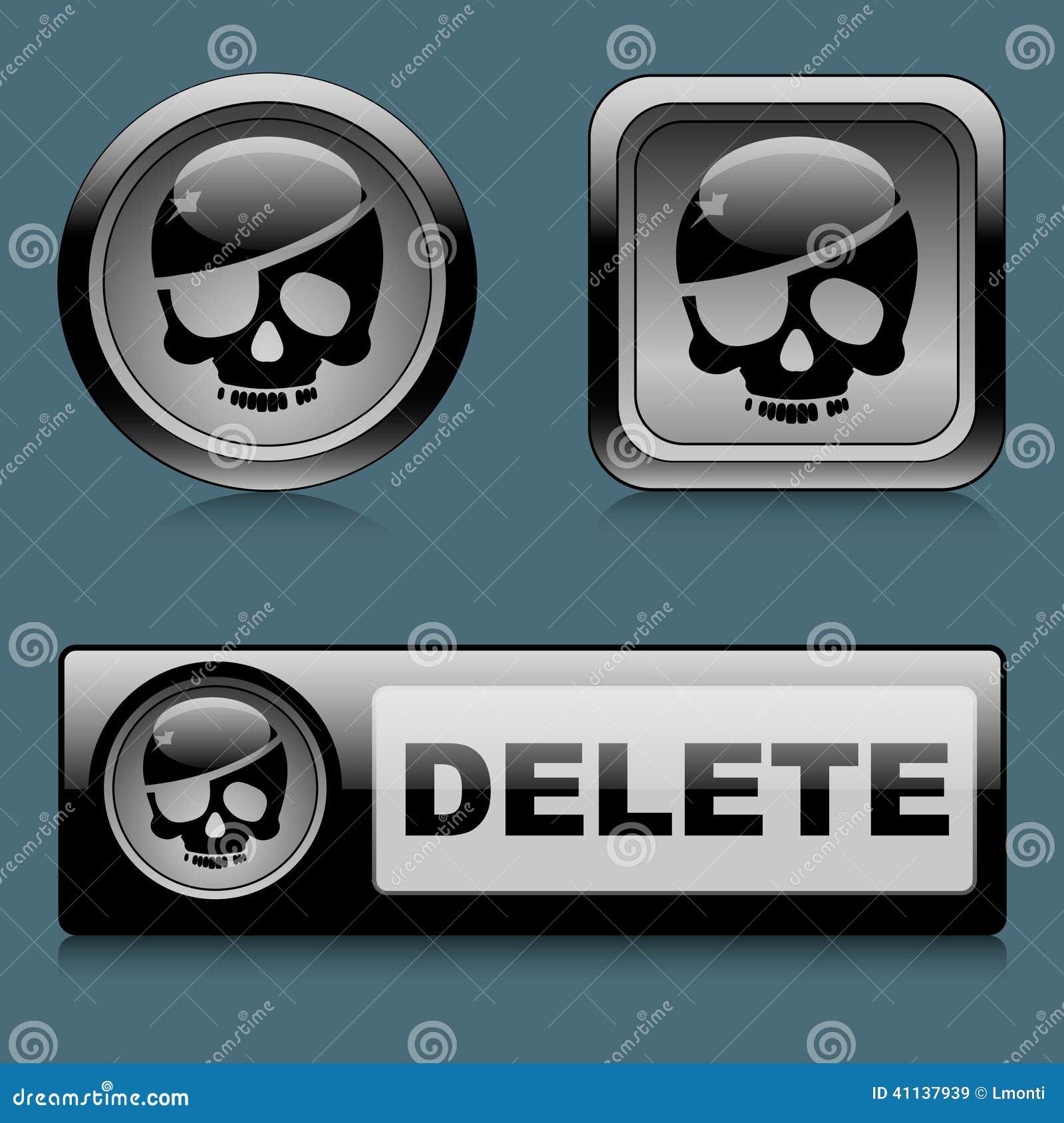 Set web buttons delete