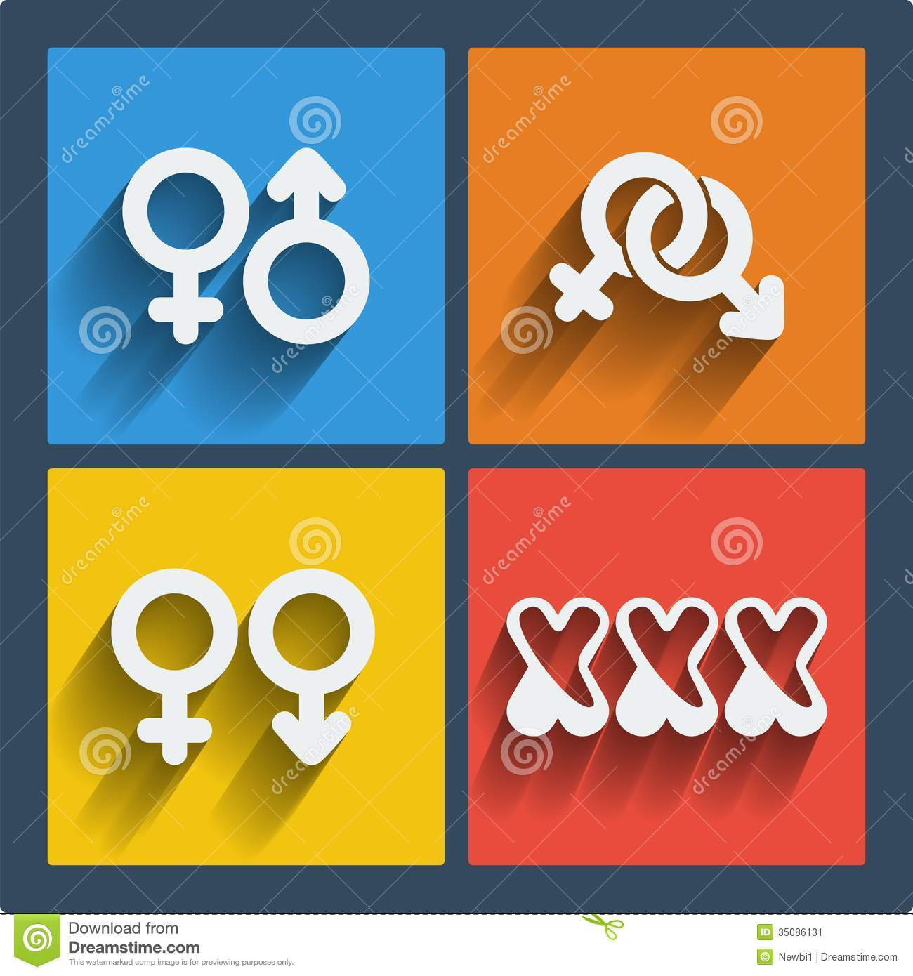 Set Of 4 Web And Mobile Gender Icons Vector Stock Vector -7787