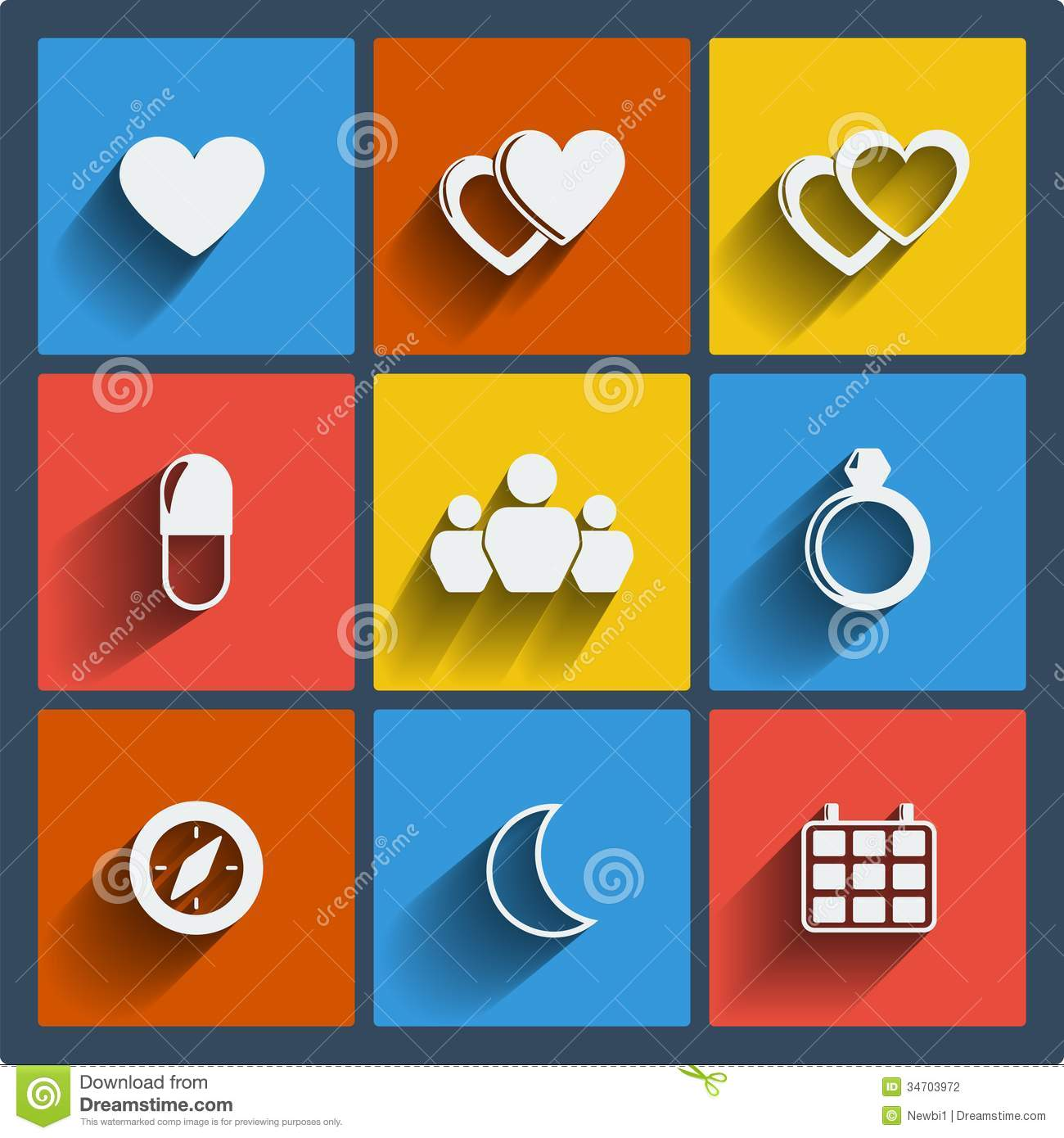 Jewellery Calendar Design : Set of web and mobile icons vector stock photography