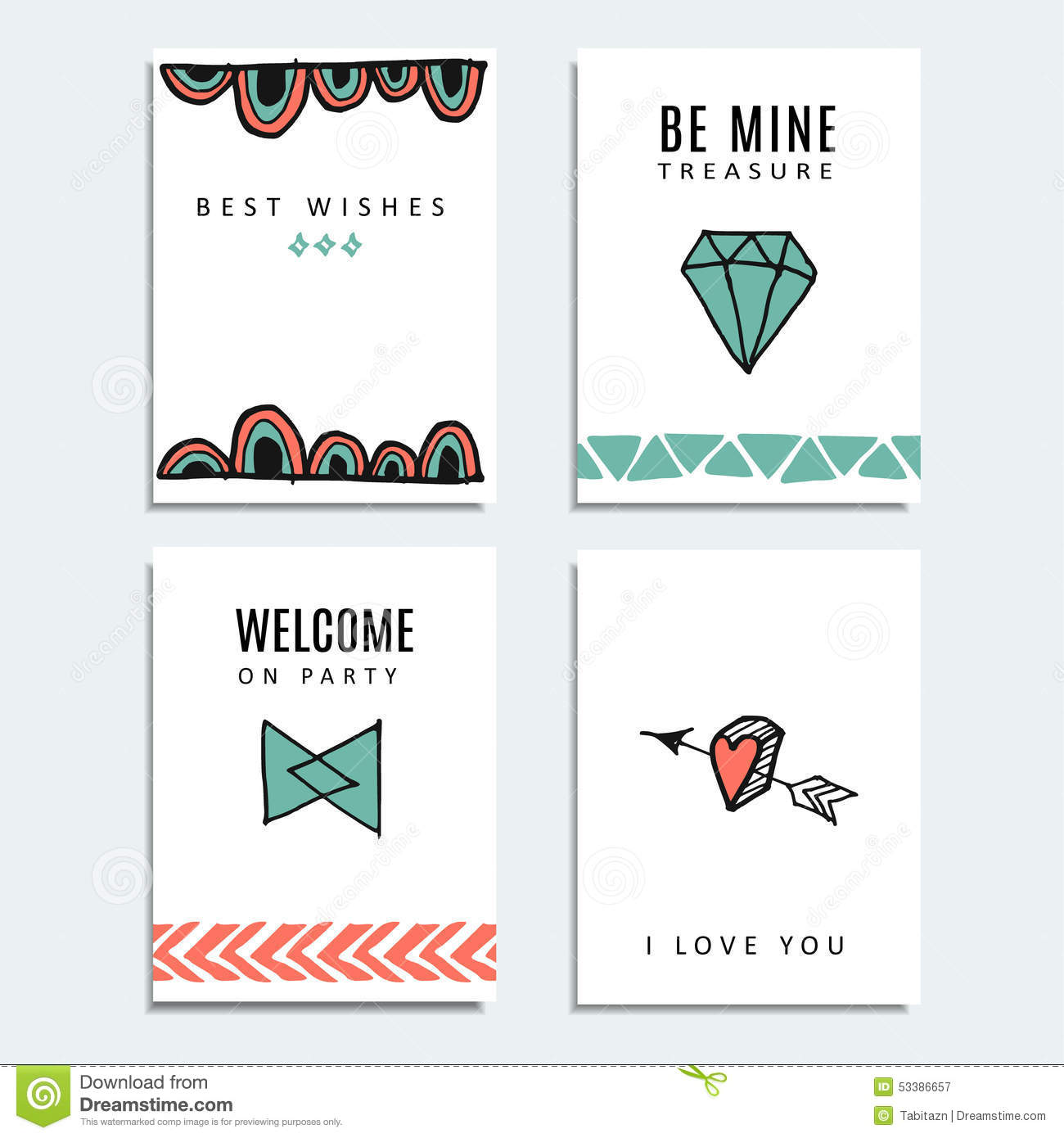 Set Of Wedding And Birthday Cards Hipster Design Background – Hipster Birthday Cards