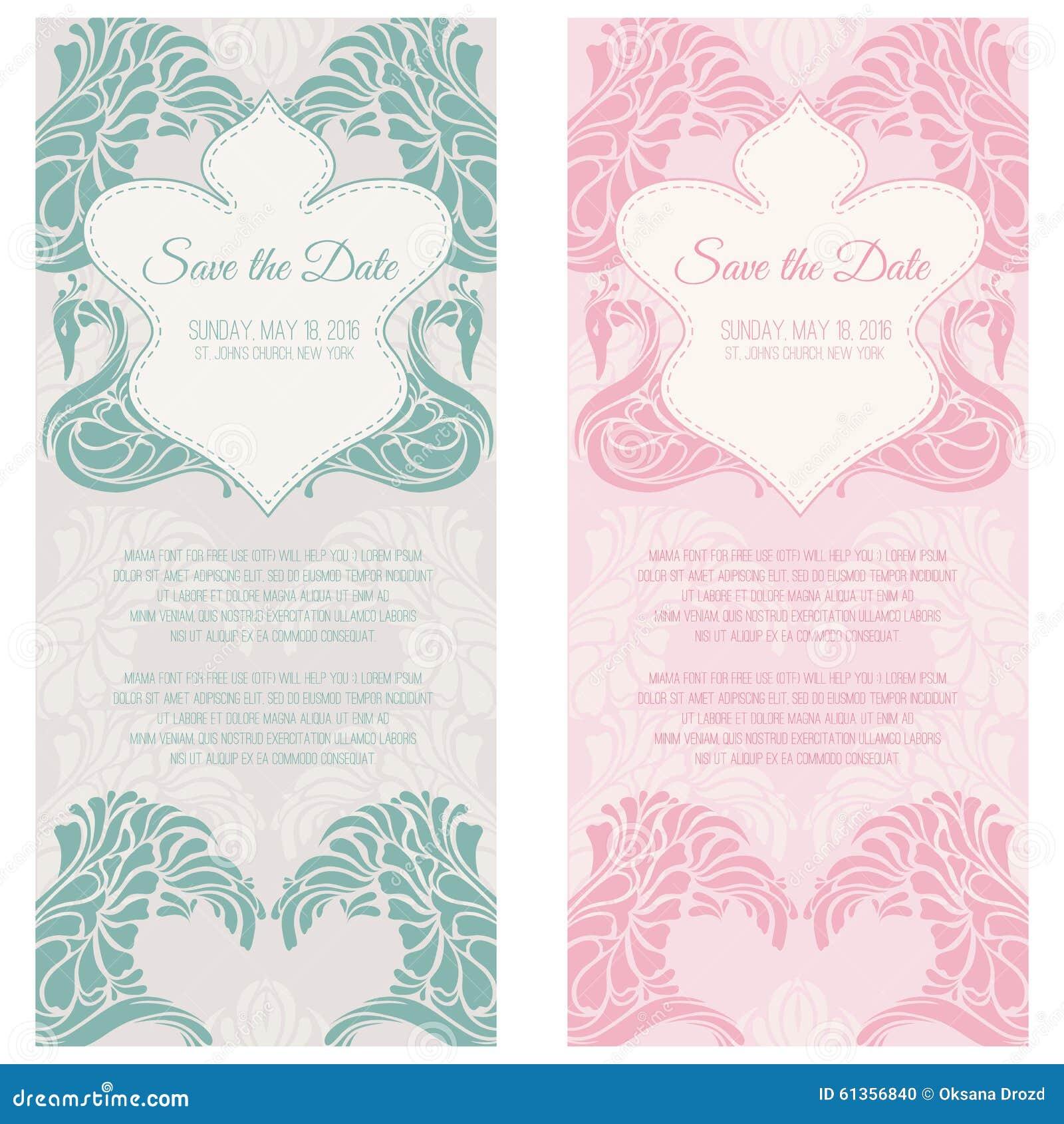 set of wedding cards stock vector illustration of elegance 61356840