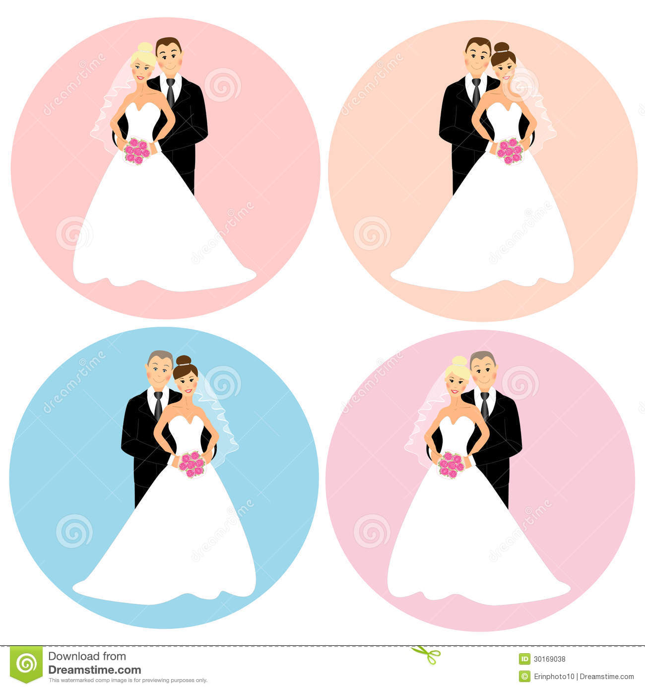 As design elements for wedding invitation decor or cake toppers decor
