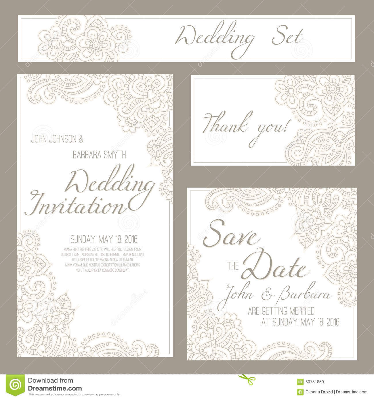 Set of wedding invitation or anniversary cards with romantic floral download set of wedding invitation or anniversary cards with romantic floral background stock vector stopboris Choice Image