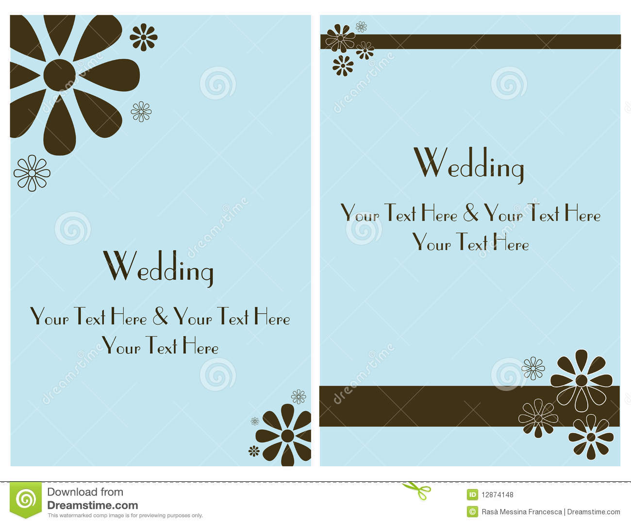 Set Wedding Invitation Card 2 Royalty Free Stock Photos - Image