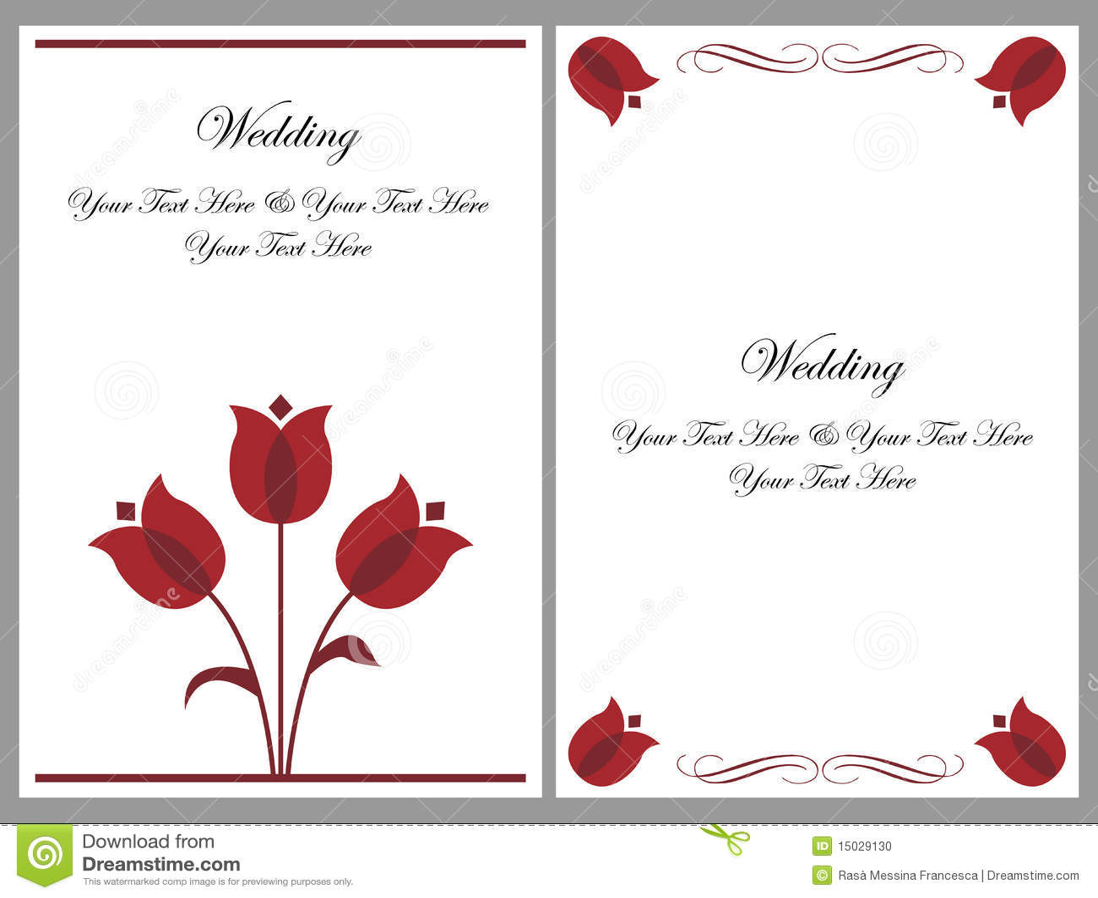 set wedding invitation cards stock vector illustration. Black Bedroom Furniture Sets. Home Design Ideas