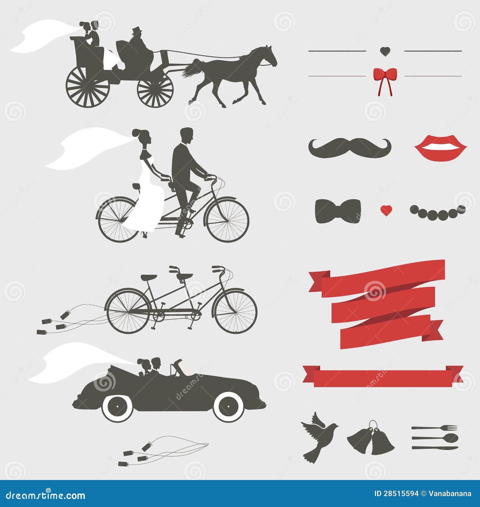 Set Of Wedding Invitation Design Elements Stock Images