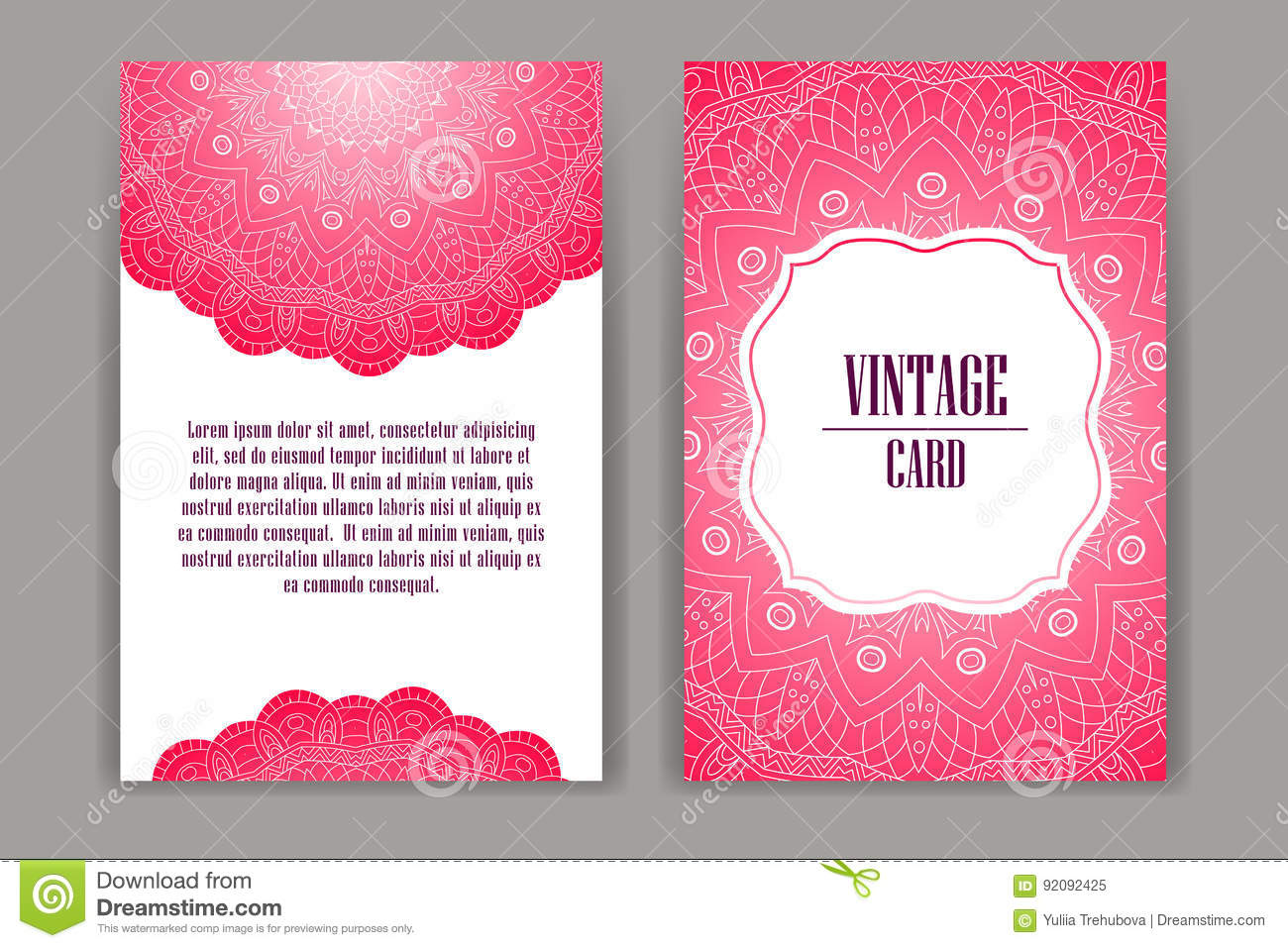 Set Of Wedding Invitations Wedding Cards Template With