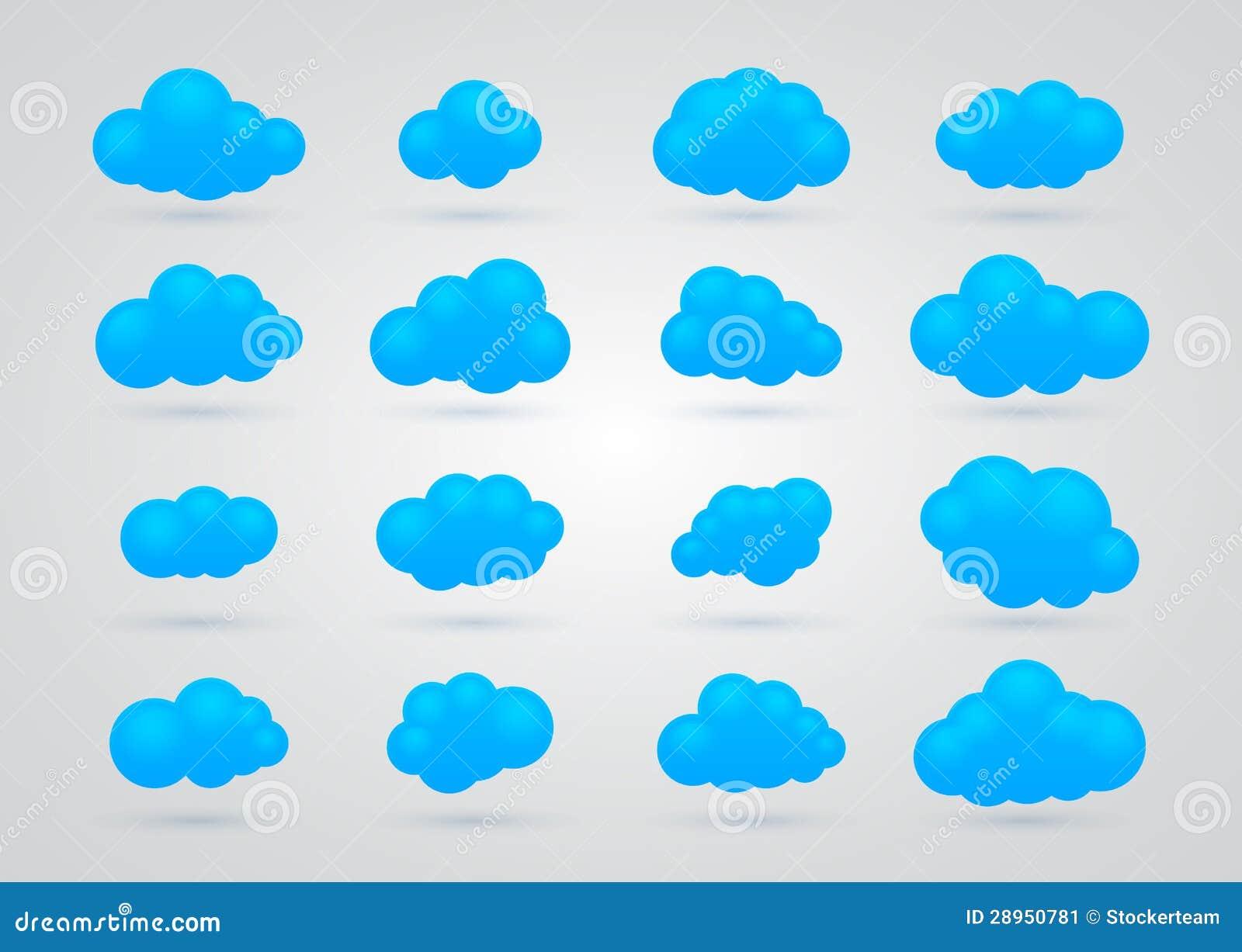 Set wiele Błękitne chmury