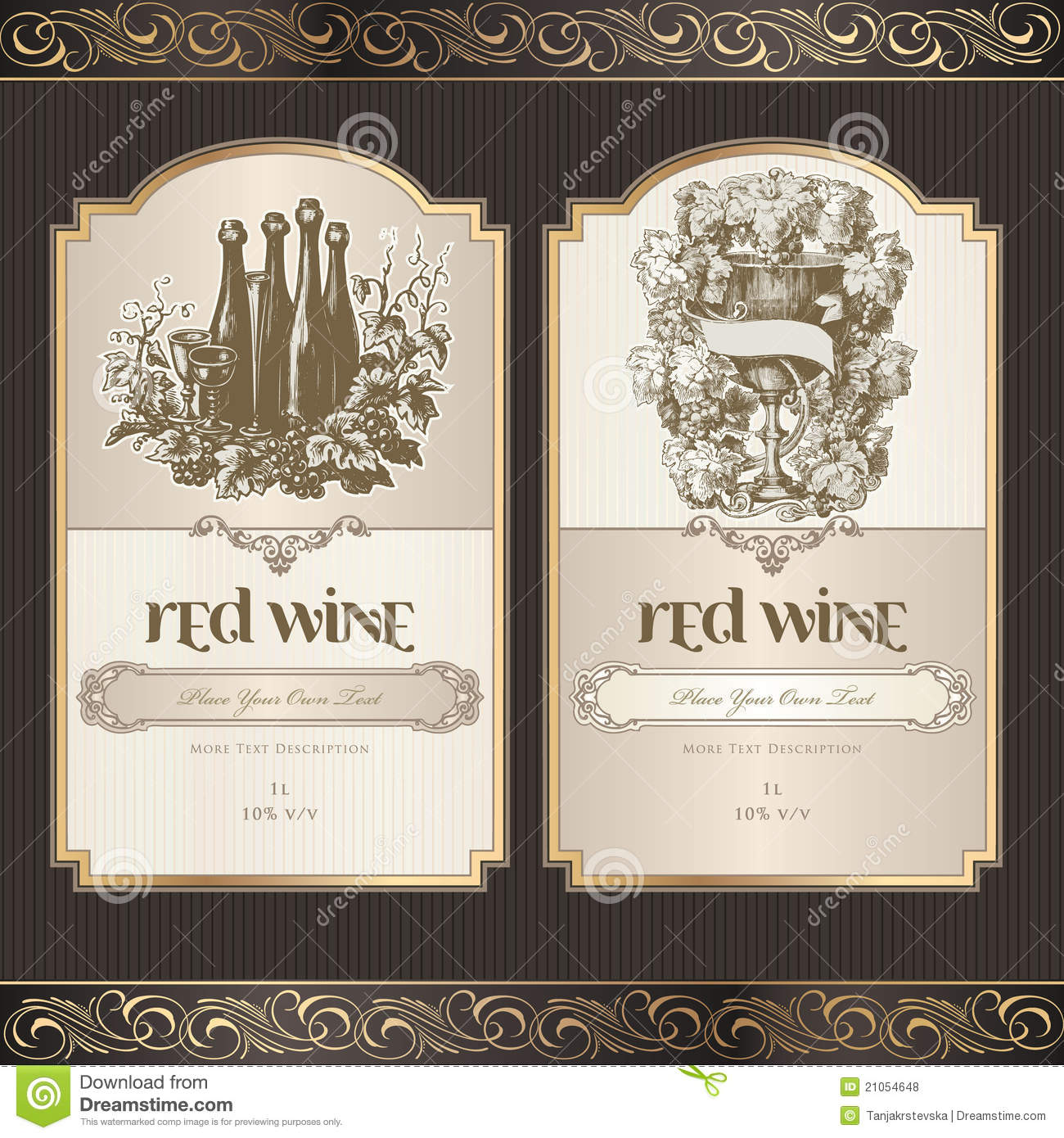 Set Of Wine Labels  Free Wine Label Template