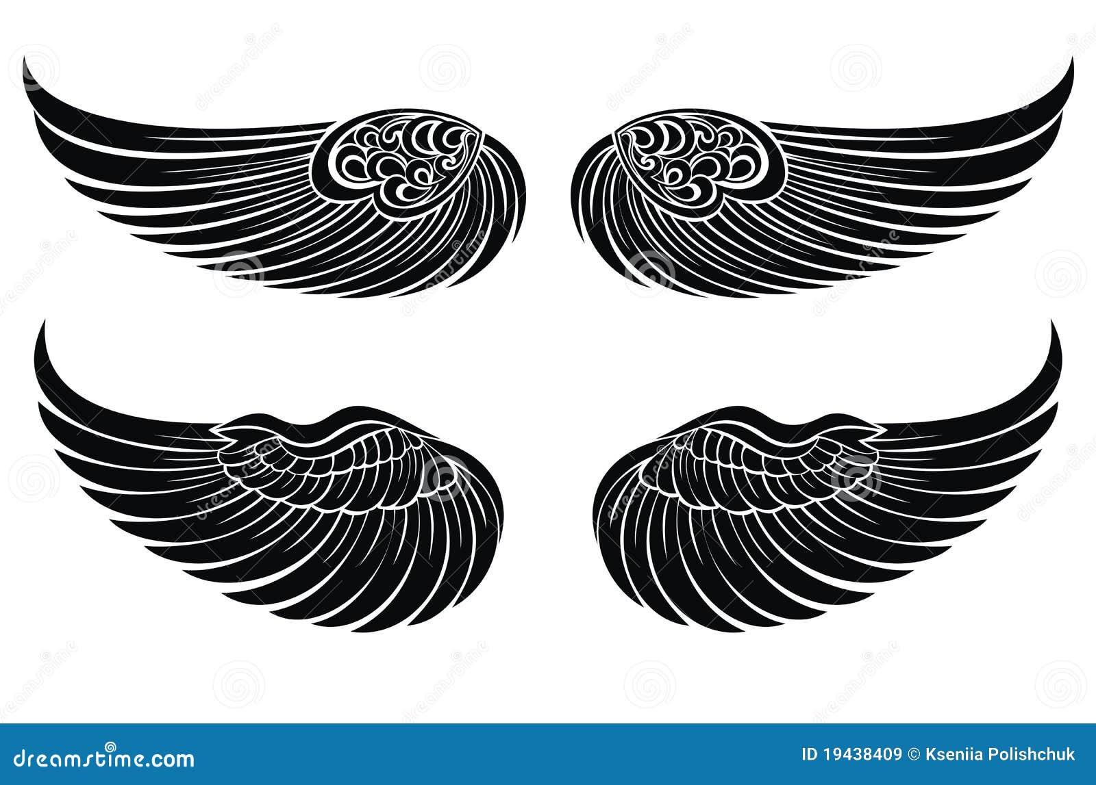 Wing tattoo design - Angel Design Element Symbol Tattoo Wing