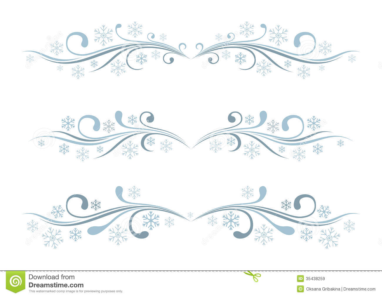 Set Of Winter Borders Royalty Free Stock Images - Image: 35438259