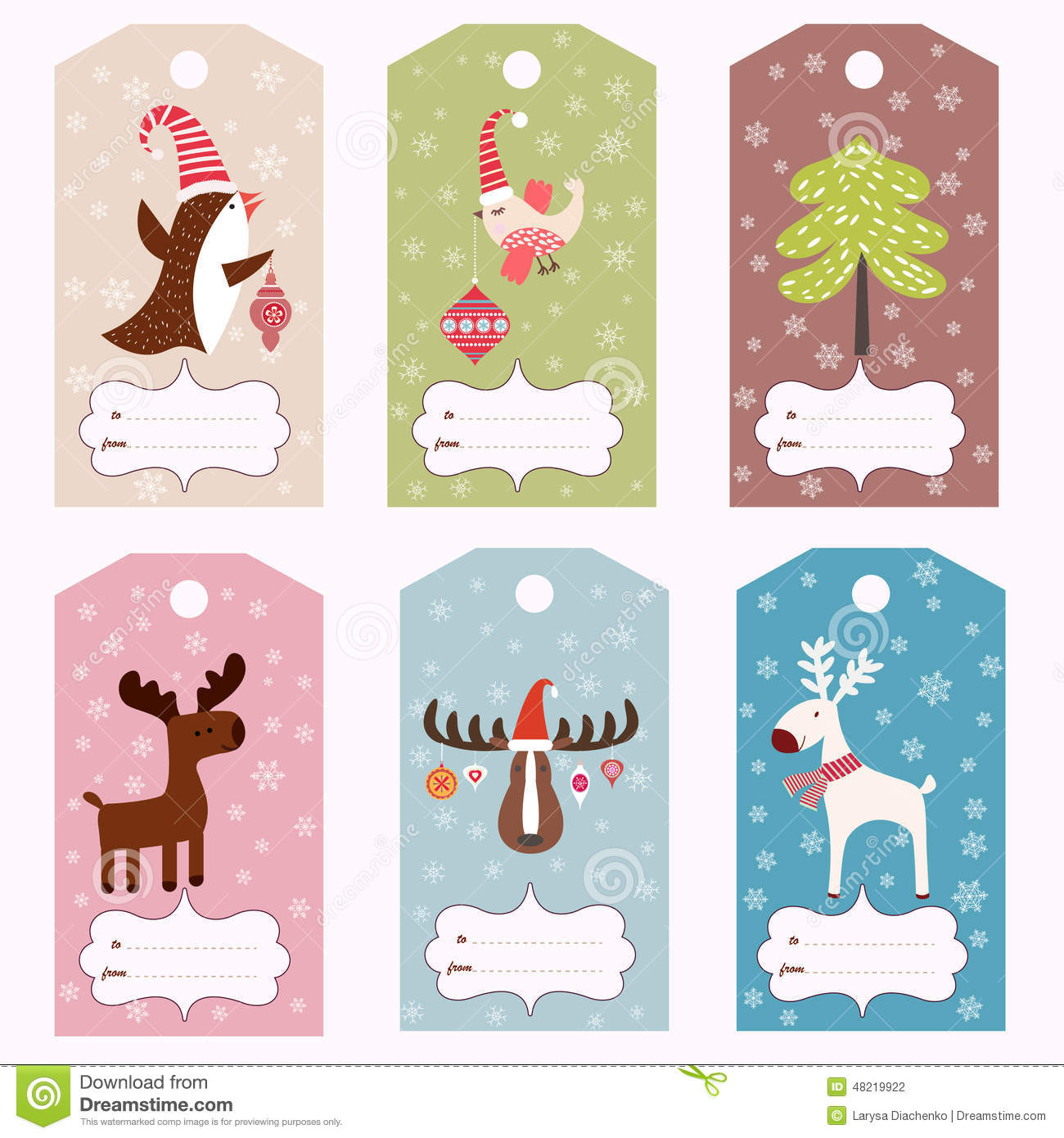 Set of winter gift tags stock vector. Illustration of ...