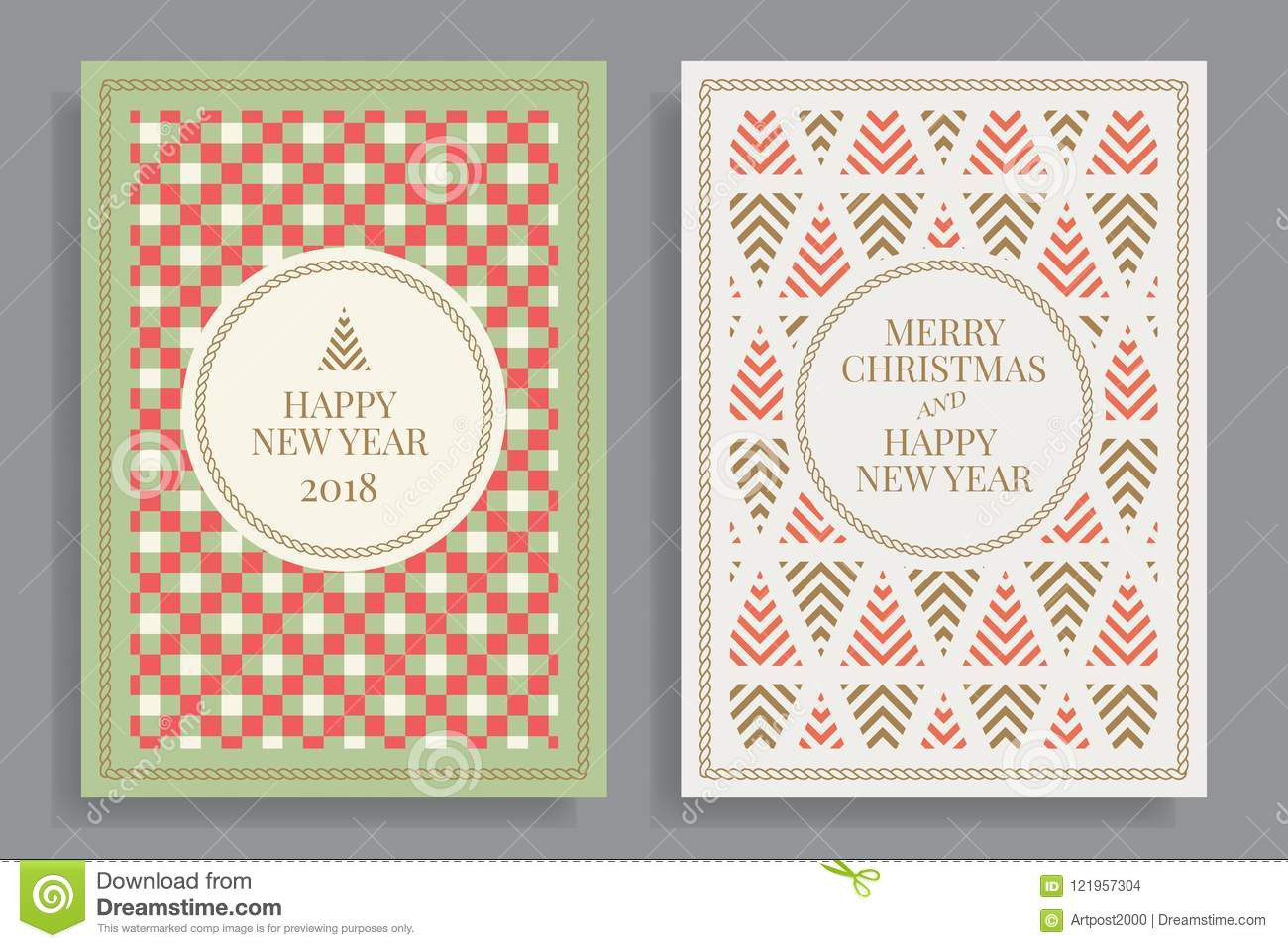merry christmas and happy new year elegant template for postcards invitations posters banners vector illustration eps 10