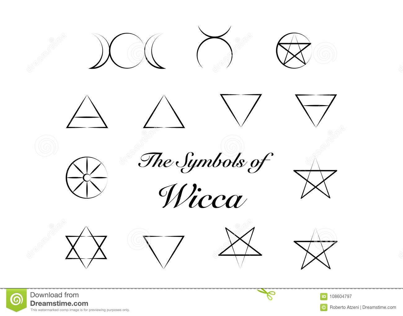 Set Of Witches Runes Wiccan Divination Symbols Ancient Occult
