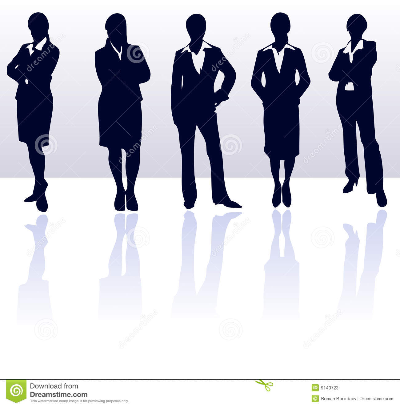 Business Women Silhouettes Office Lady Female Businesswoman Young