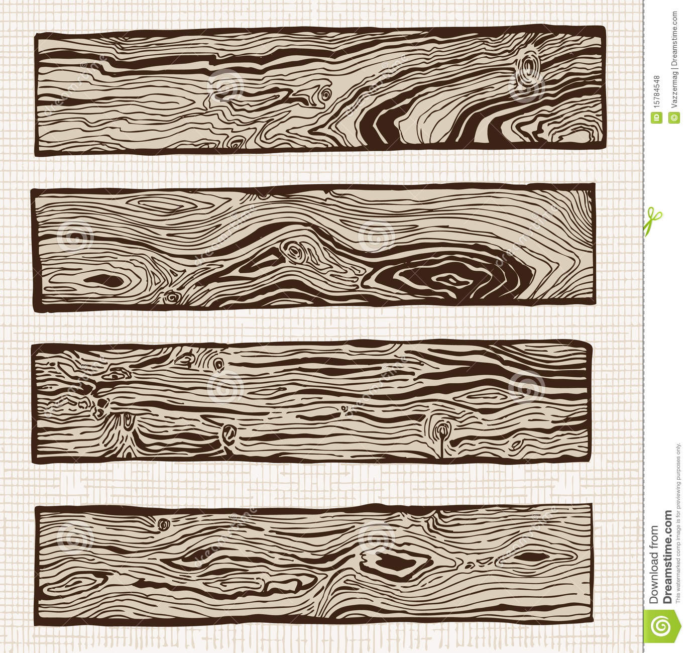 Wood Plank Drawing ~ Set of wood plank royalty free stock photos image