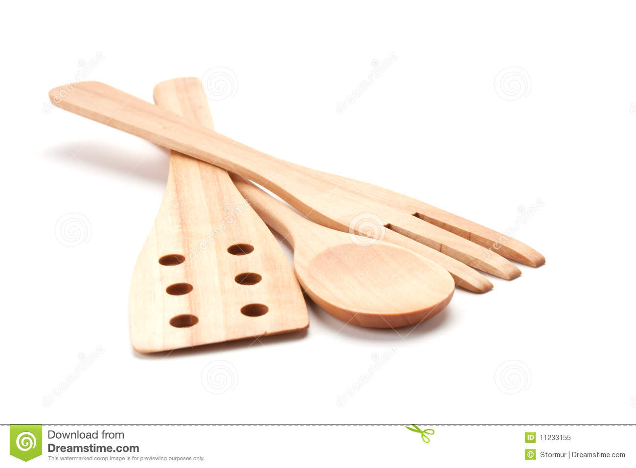 Set of wooden kitchenware stock image. Image of culinary - 11233155