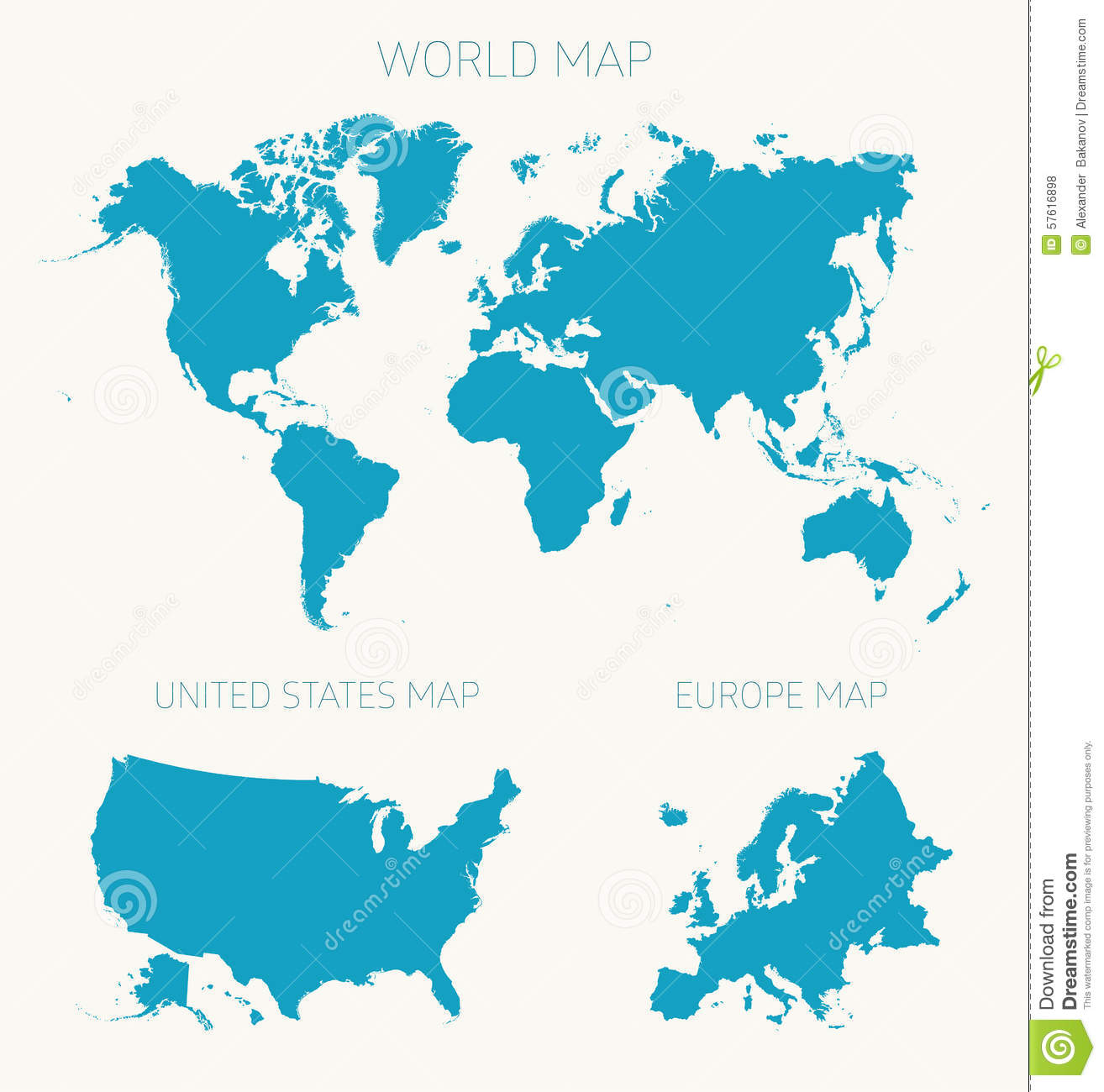 Set world american europe map vector illustration stock vector set world american europe map vector illustration gumiabroncs Image collections