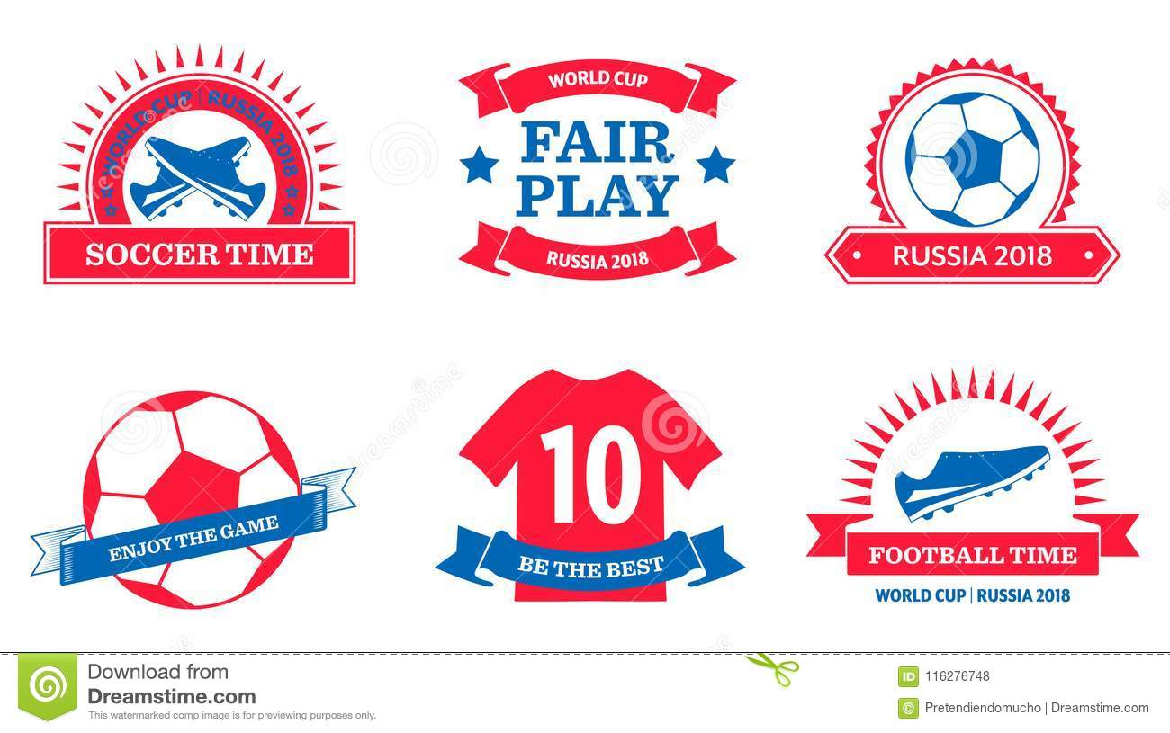 Set Of World Cup 2018 Badges Stock Vector - Illustration of