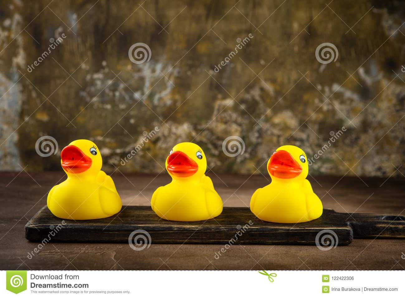 Yellow rubber ducks stock photo. Image of rubber, happy - 122422306