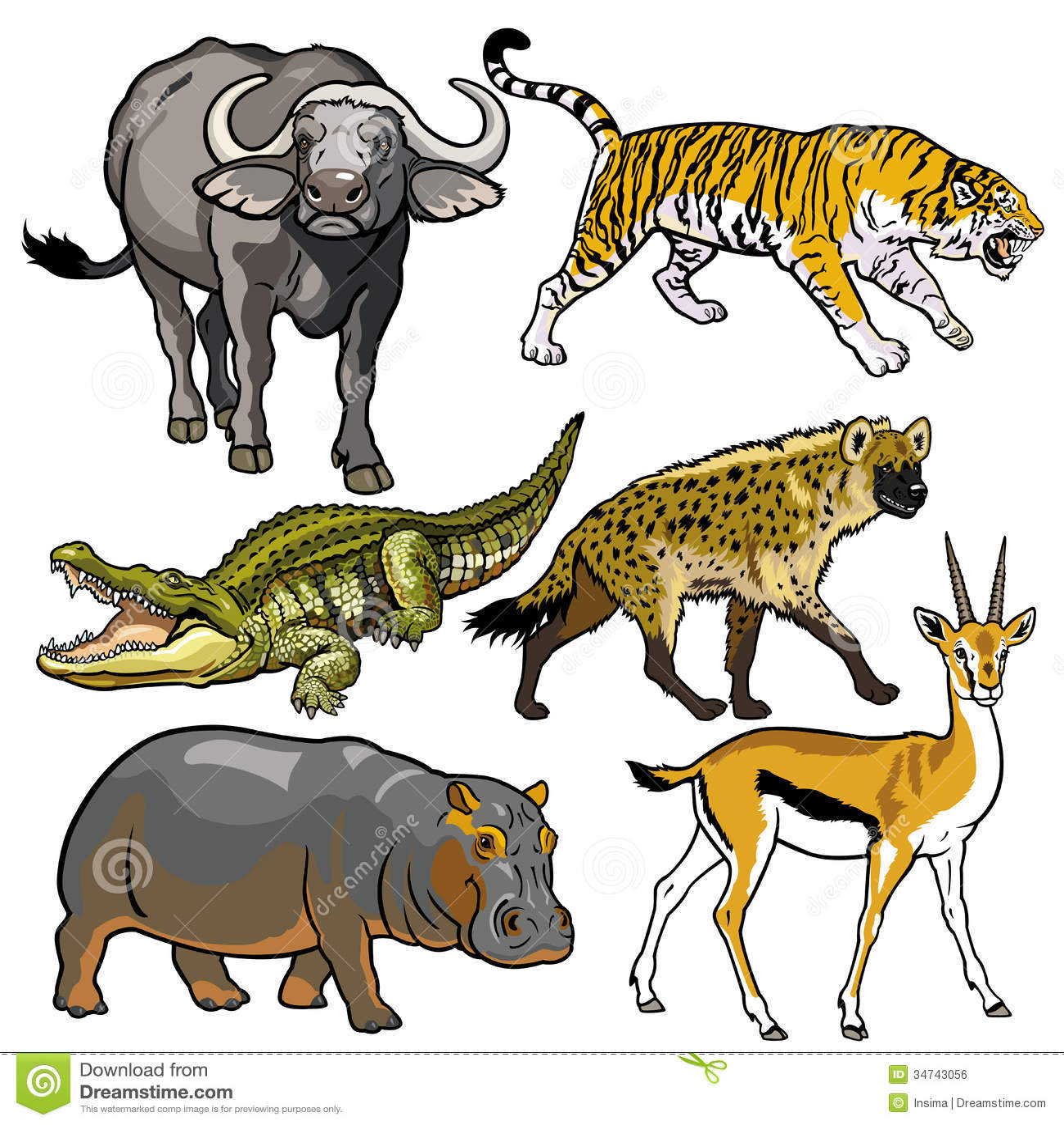 Set z dzikimi zwierzętami Afryka